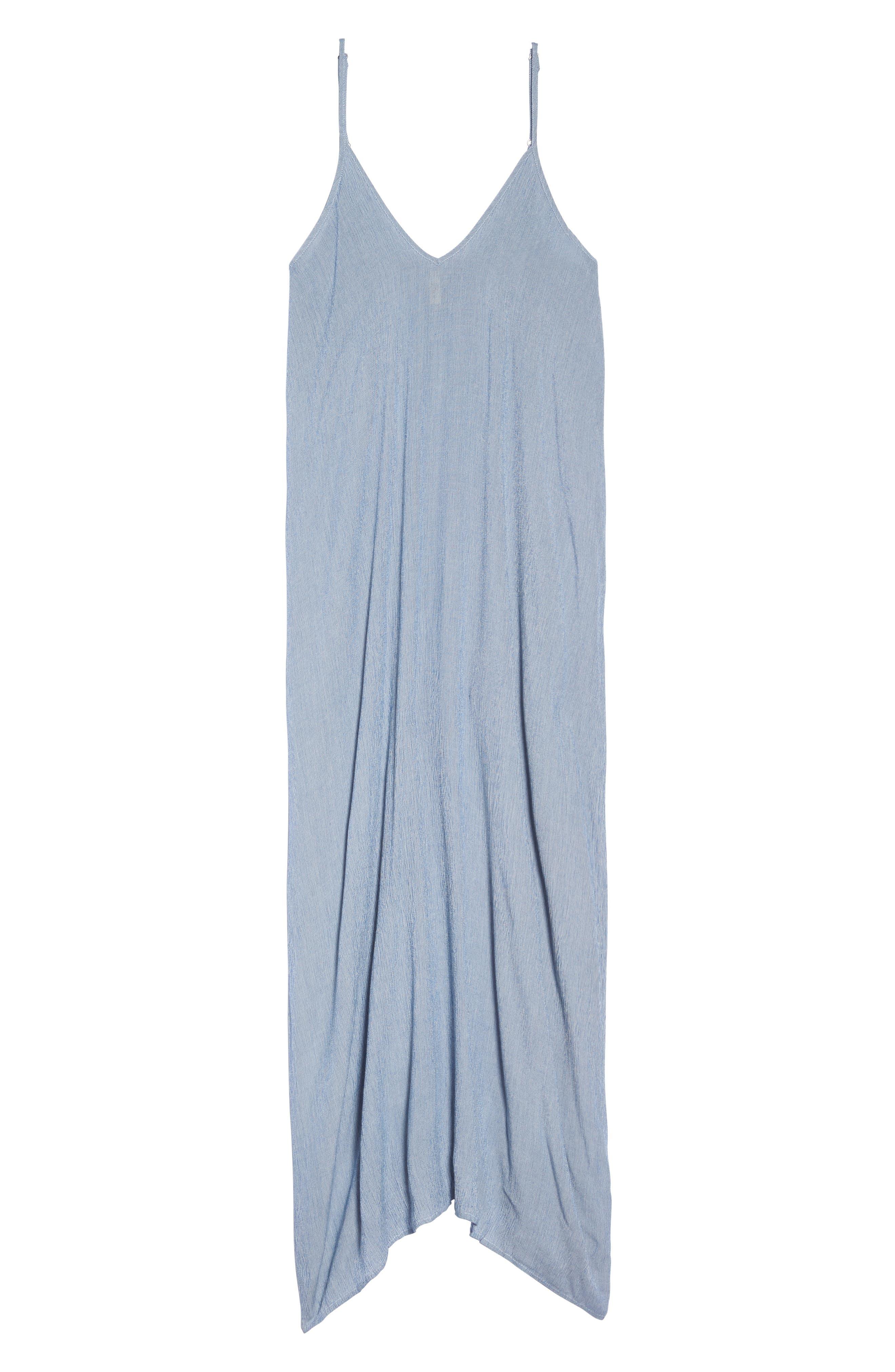 Cover-Up Maxi Dress,                             Alternate thumbnail 6, color,                             BLUE STRIPE