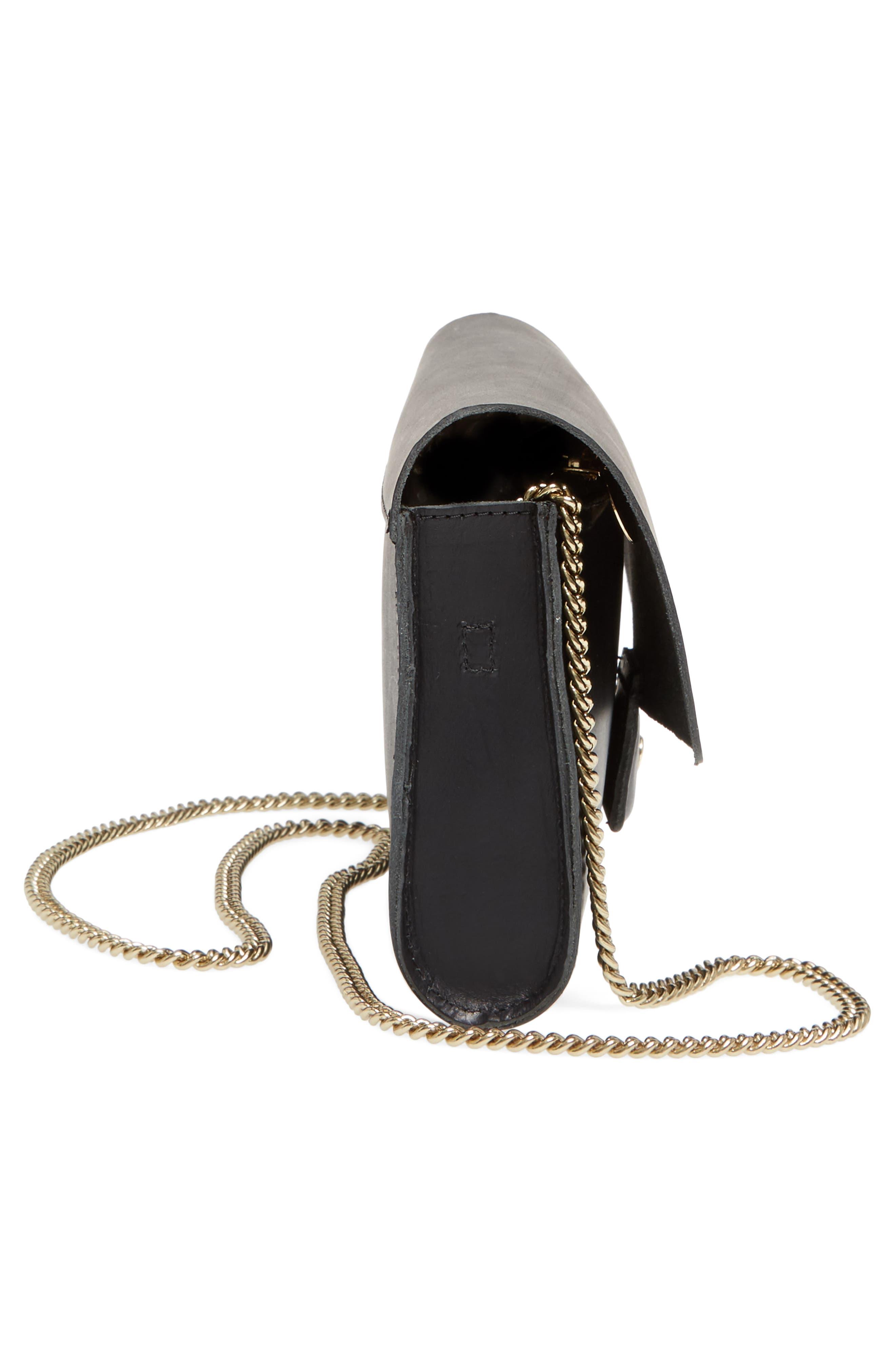 Colette Maison Leather Shoulder Bag,                             Alternate thumbnail 5, color,                             001