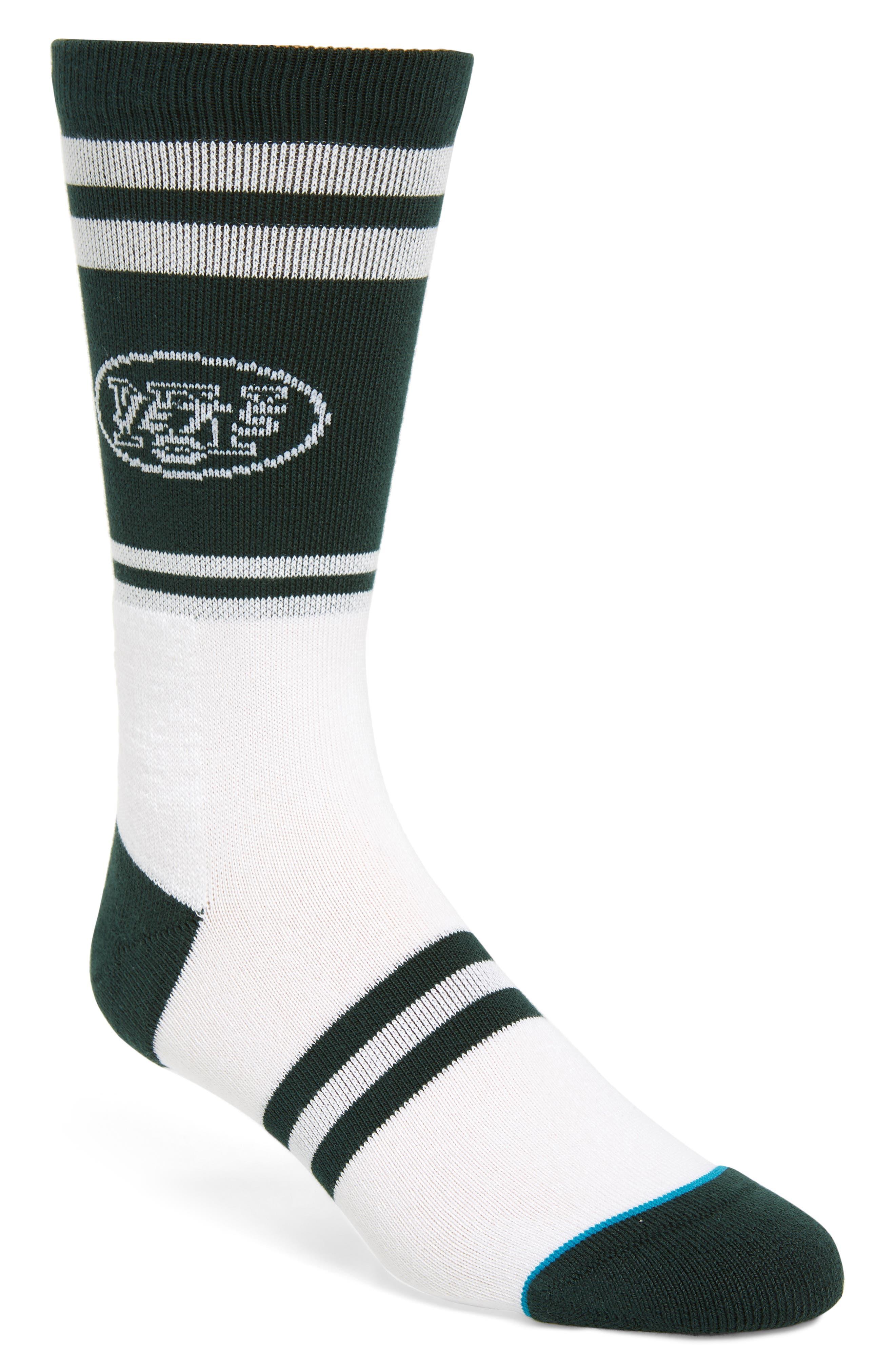 New York Jets Socks,                             Main thumbnail 1, color,                             GREEN