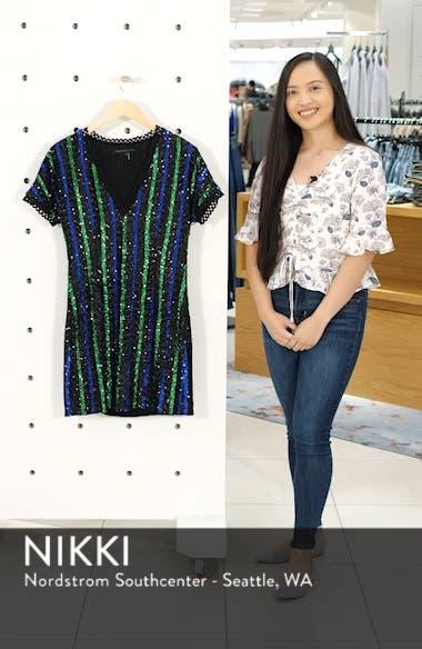 Sequin Stripe Minidress, sales video thumbnail
