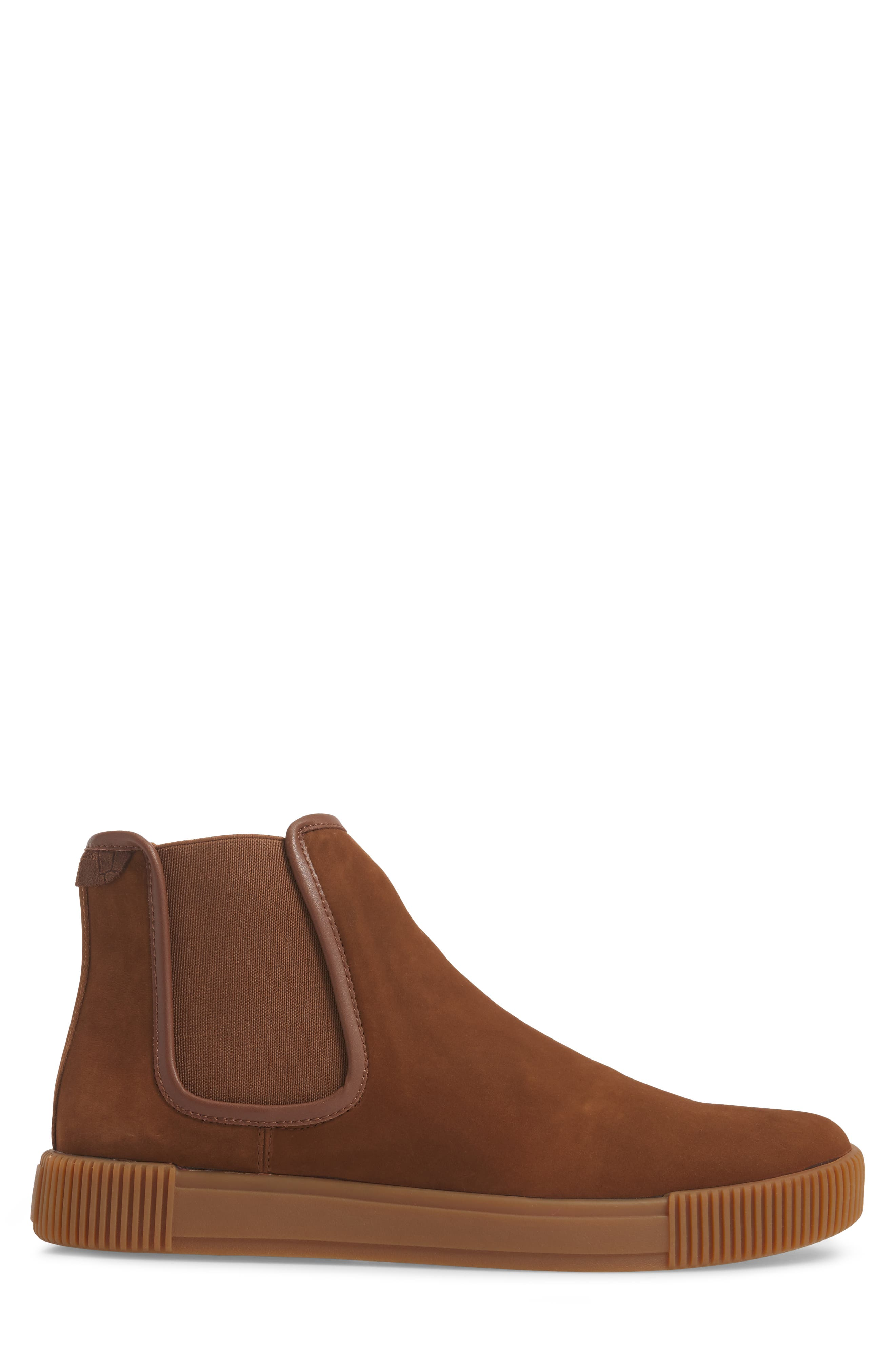 Lyons Chelsea Boot,                             Alternate thumbnail 3, color,                             CHOCOLATE SUEDE