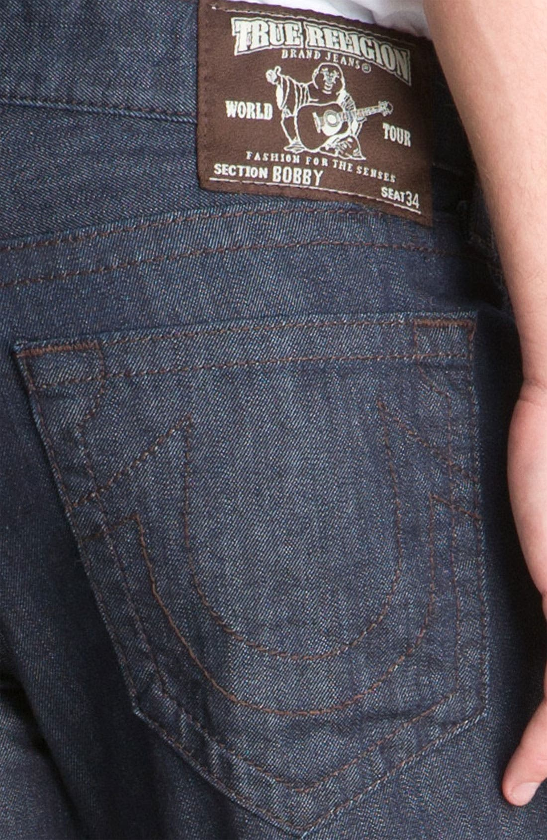 'Bobby' Straight Leg Jeans,                             Alternate thumbnail 3, color,                             400