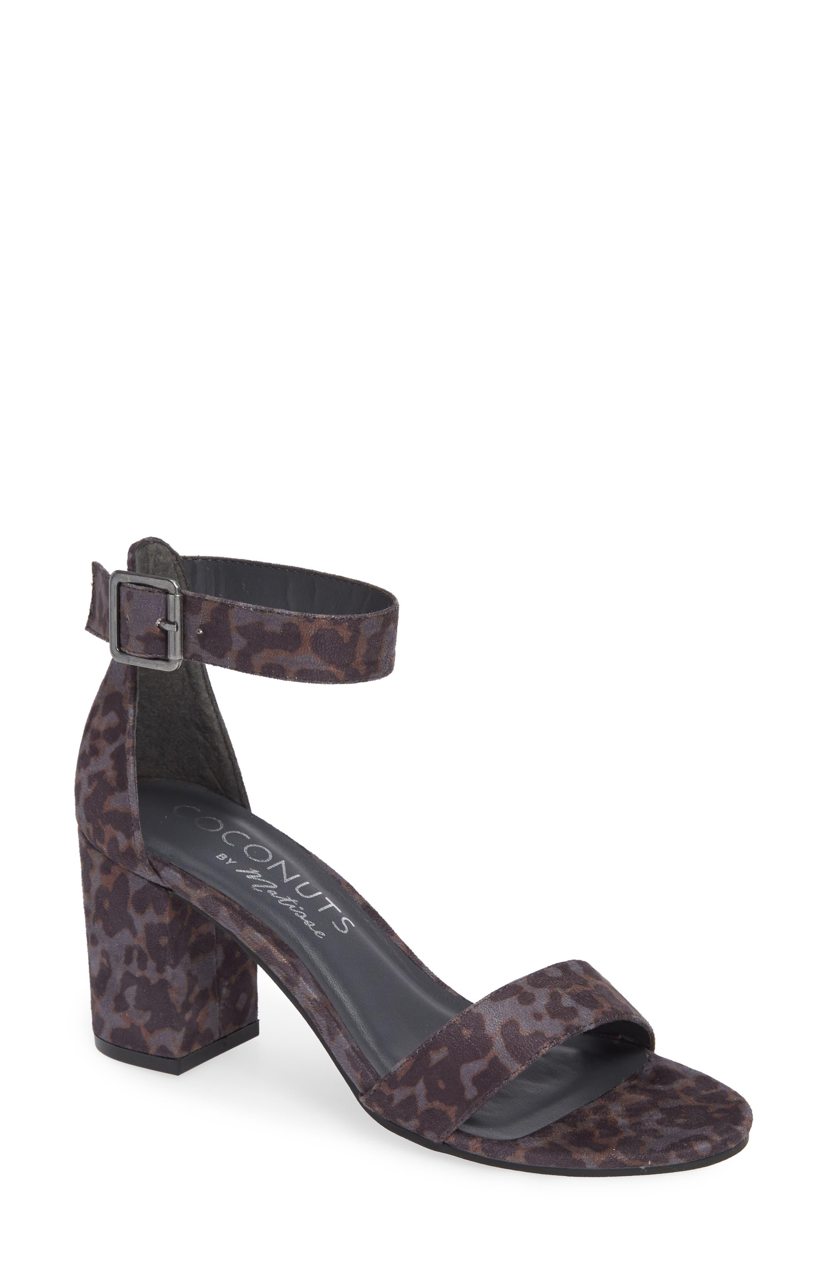 Sashed Sandal,                         Main,                         color, GREY LEOPARD PRINT