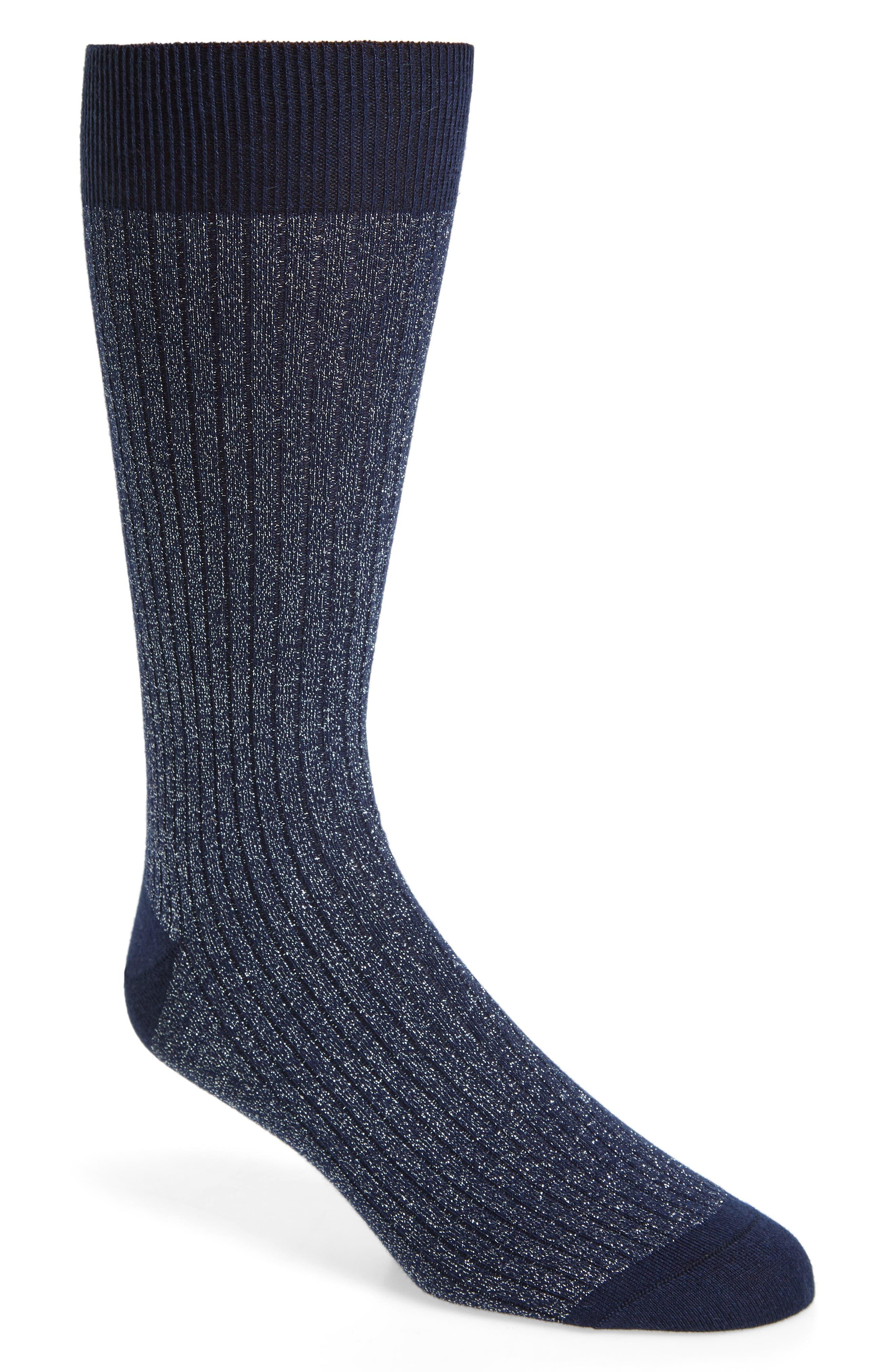 Sparkle Socks,                             Main thumbnail 1, color,                             NAVY