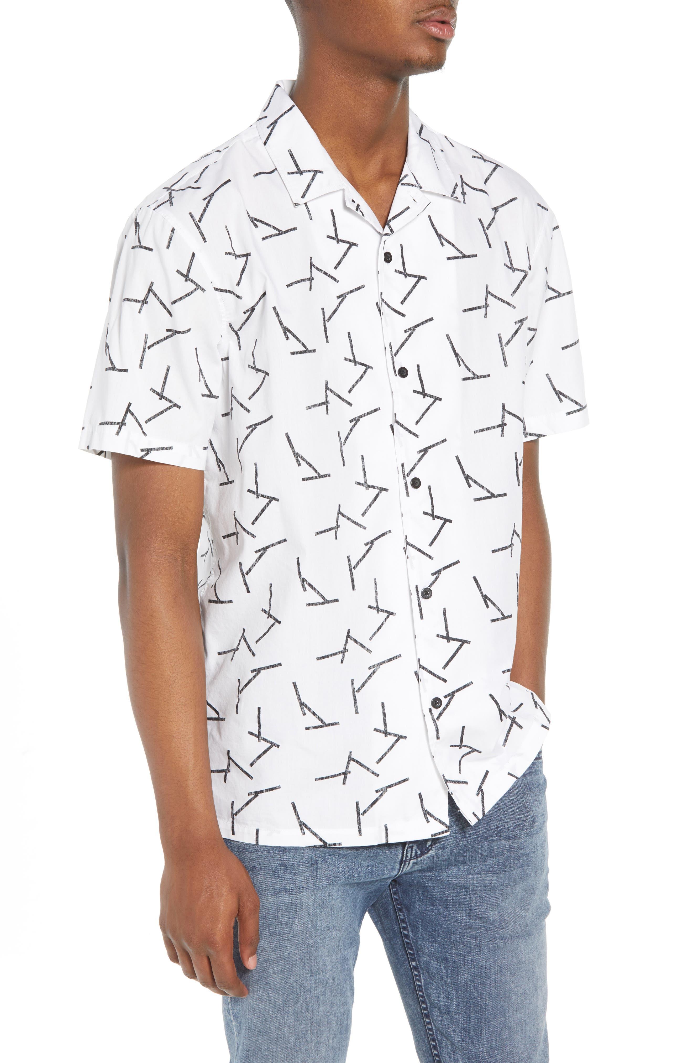 TAVIK Villa Sticks Woven Shirt, Main, color, 135