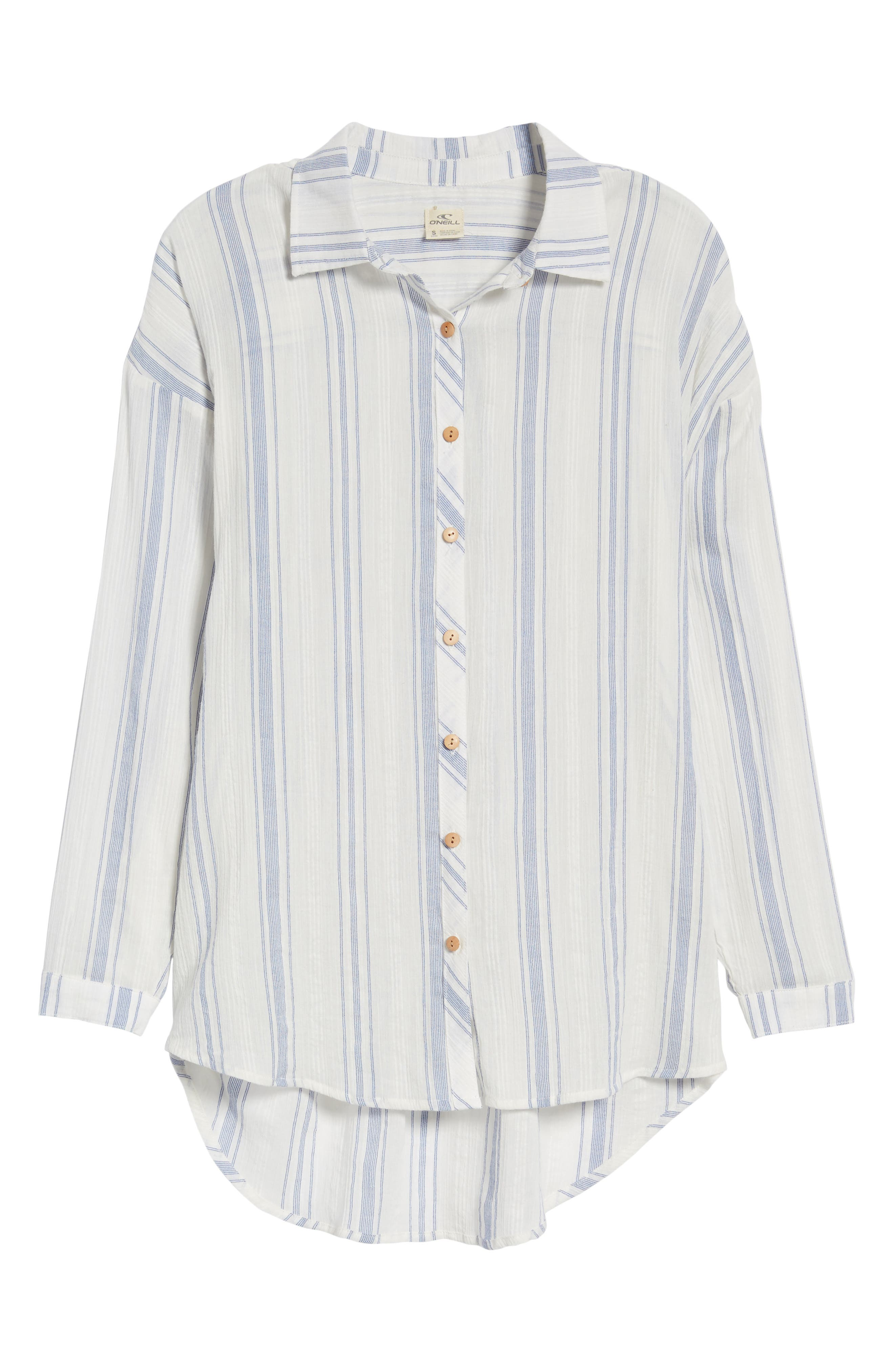 Alani Stripe Woven Shirt,                             Alternate thumbnail 7, color,