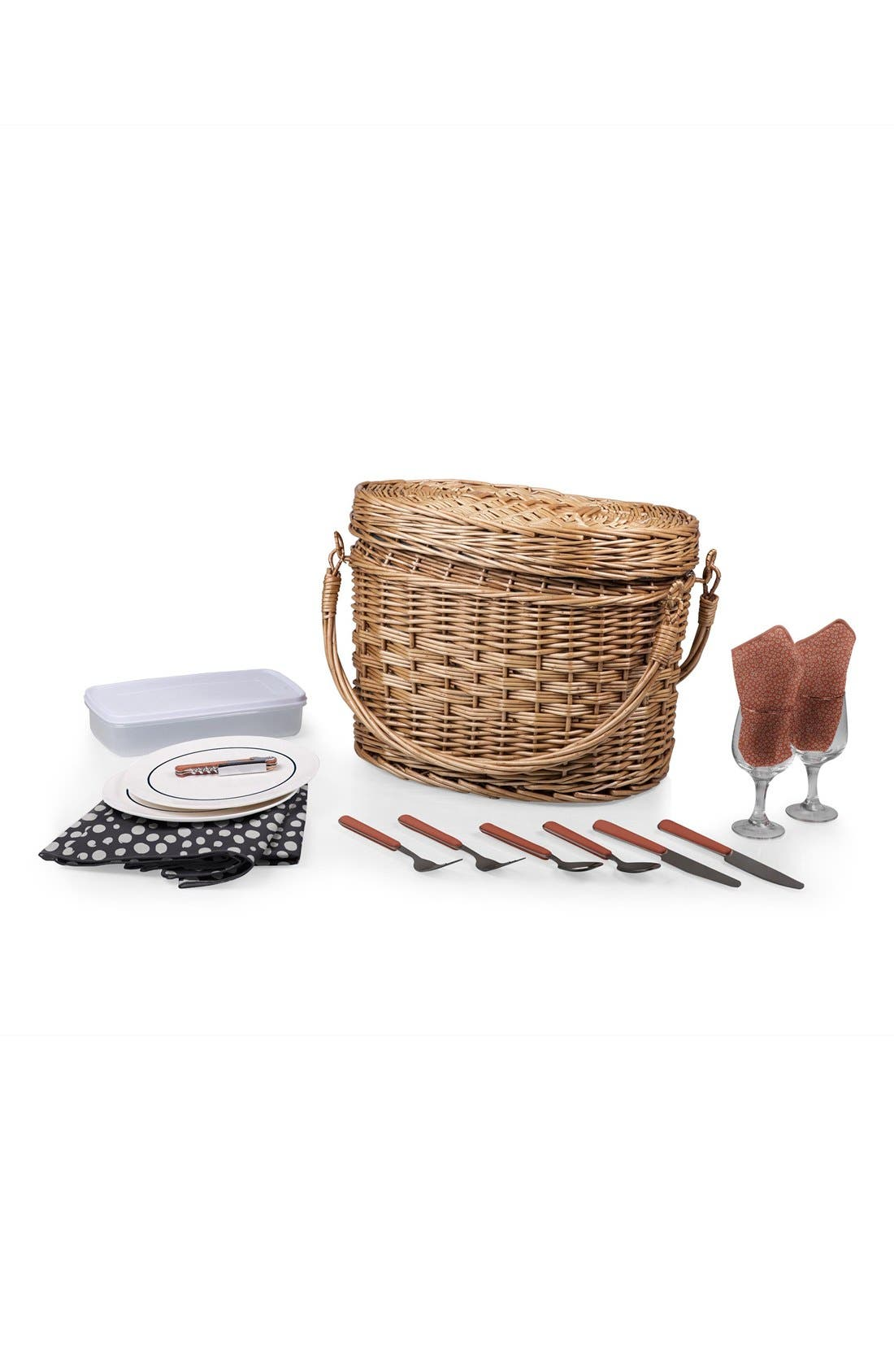 'Romance' Picnic Basket,                             Alternate thumbnail 2, color,                             400