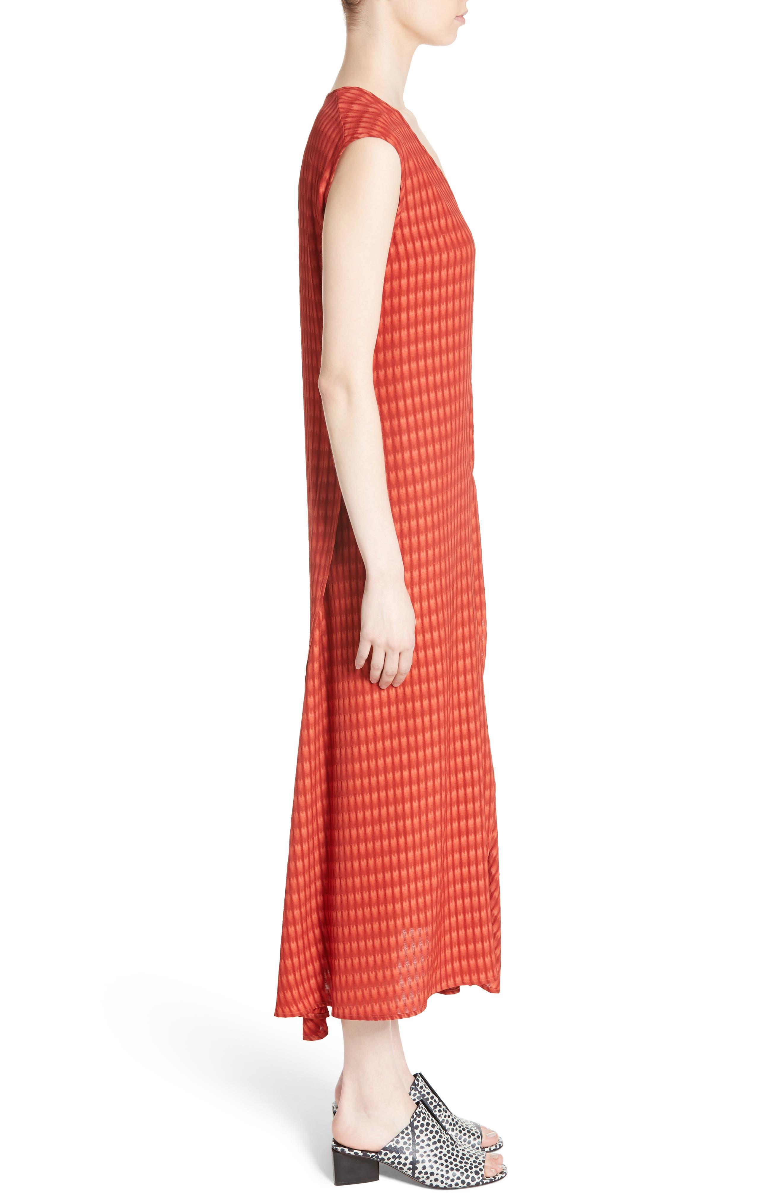 Twisted Tank Batik Plaid Dress,                             Alternate thumbnail 3, color,