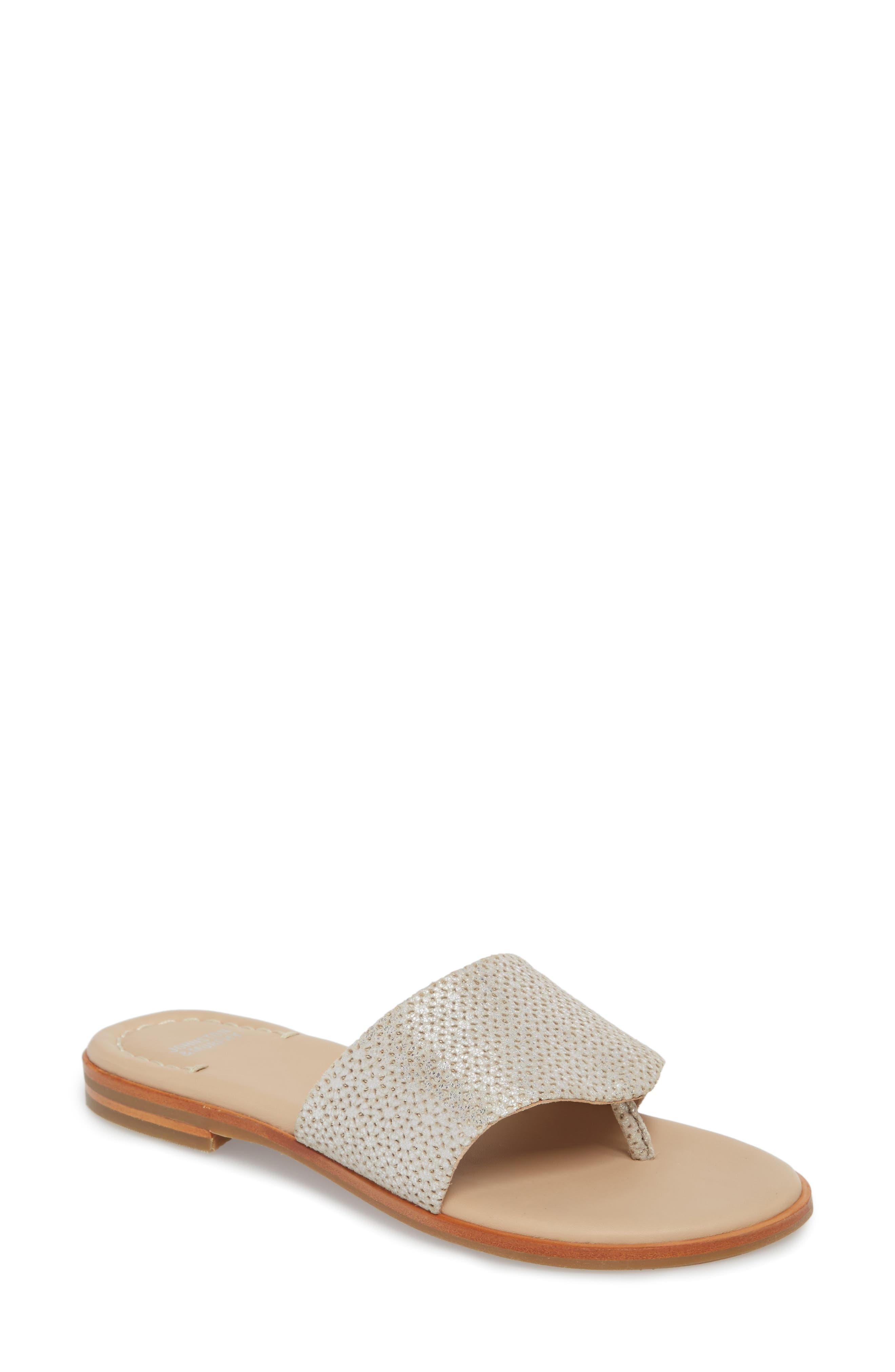Raney Flip Flop,                         Main,                         color, SILVER LASER CUT SUEDE