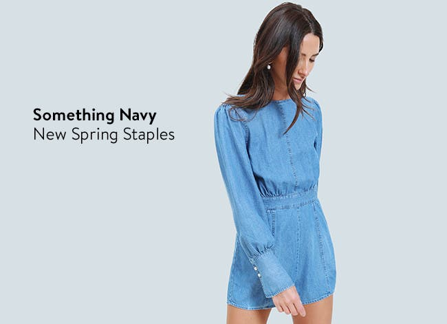 The Something Navy: new spring staples for women.