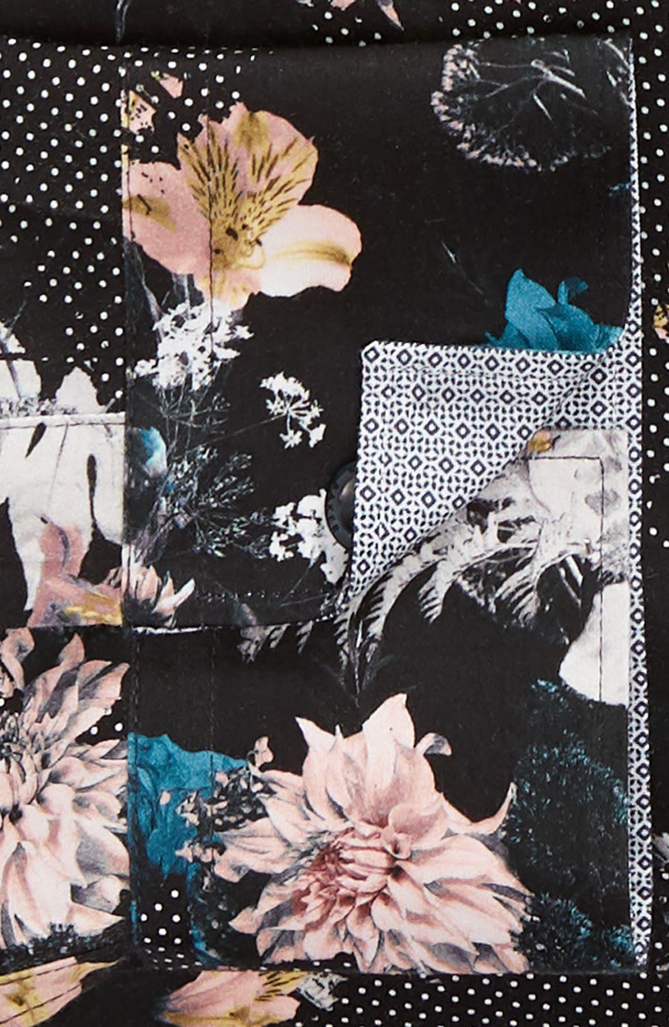 Rhubarb Modern Fit Floral Dress Shirt,                             Alternate thumbnail 6, color,                             BLACK