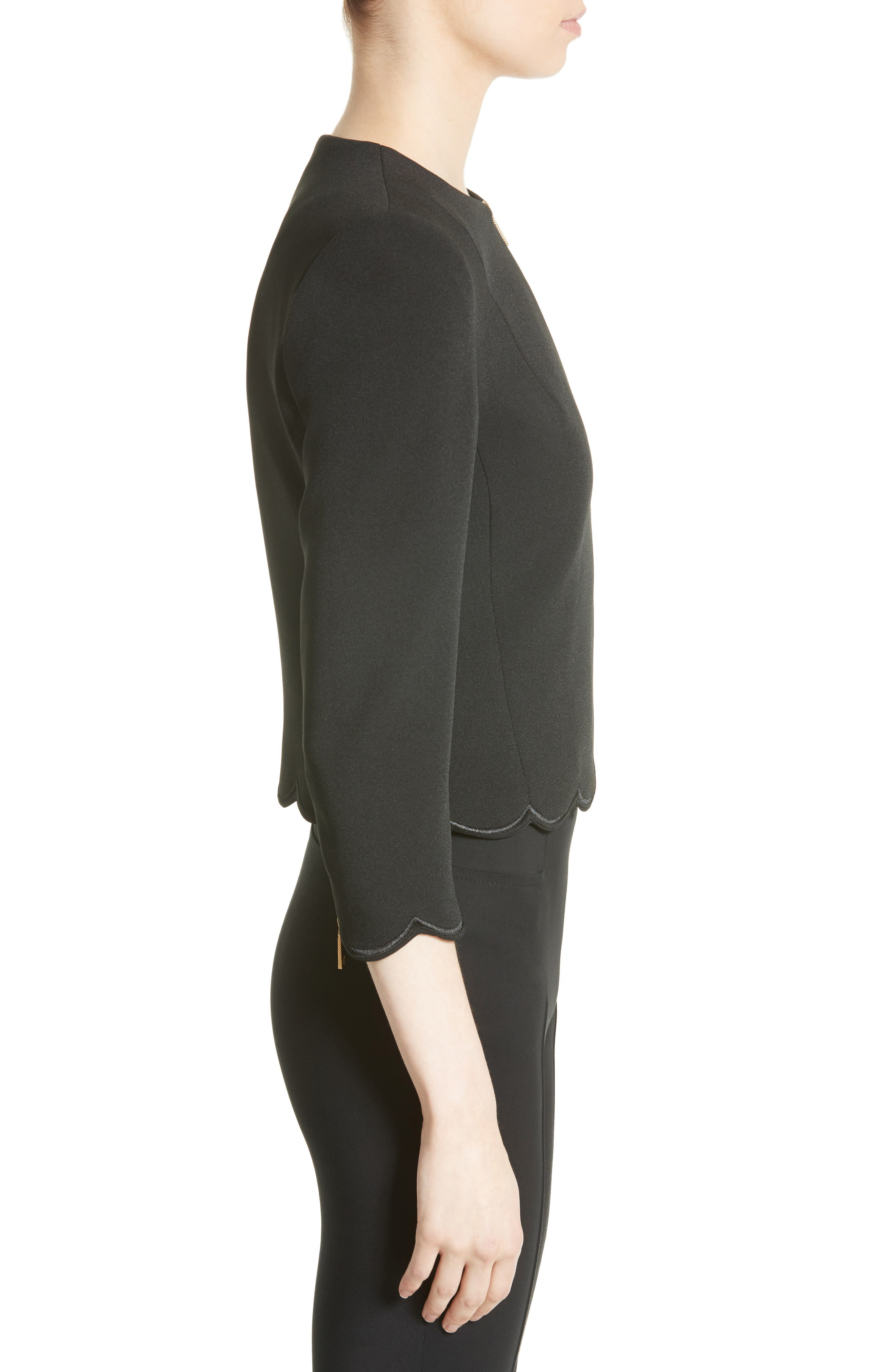 Heraly Crop Jacket,                             Alternate thumbnail 3, color,                             001