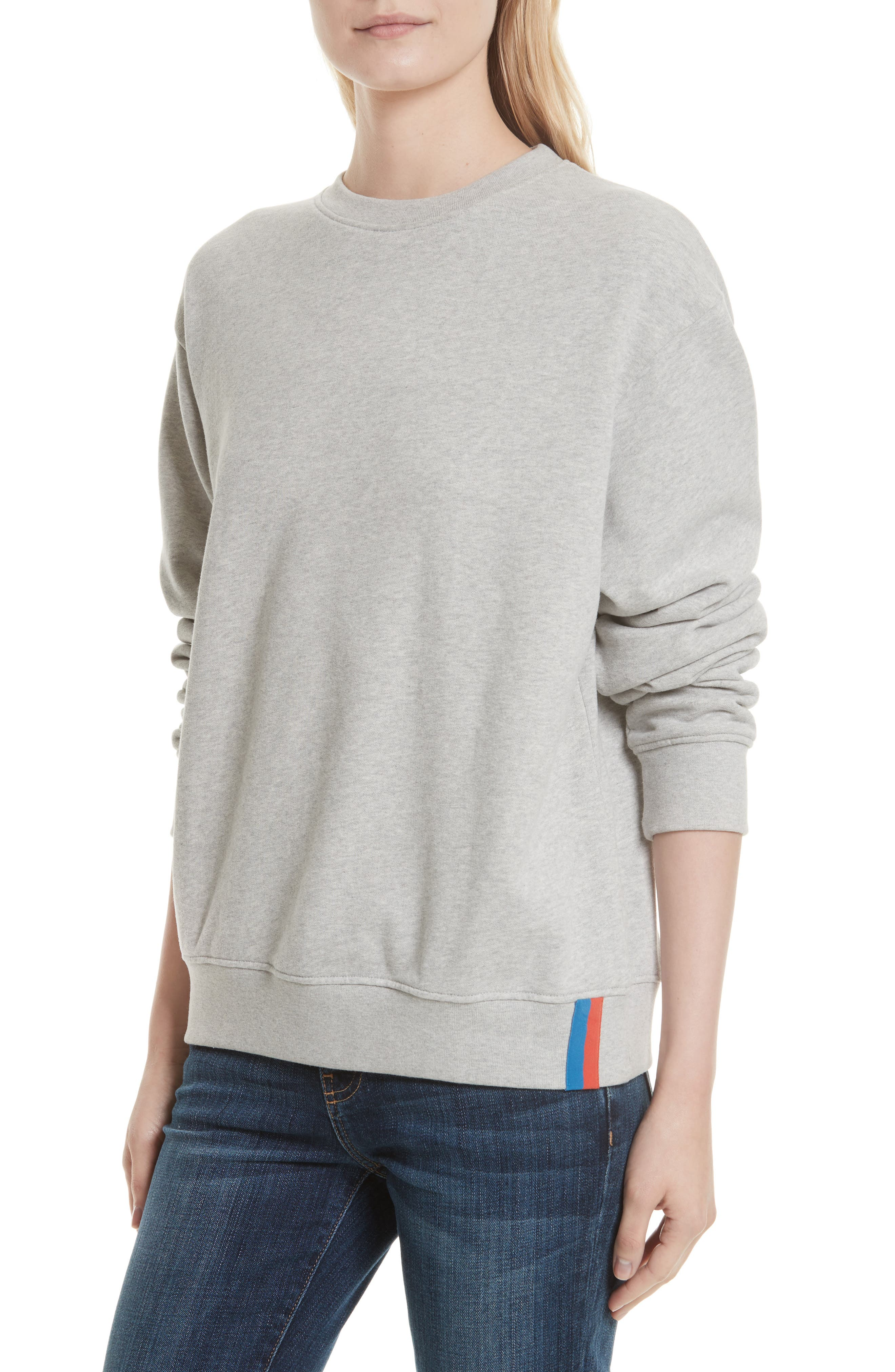 Cotton Sweatshirt,                         Main,                         color, HEATHER GREY