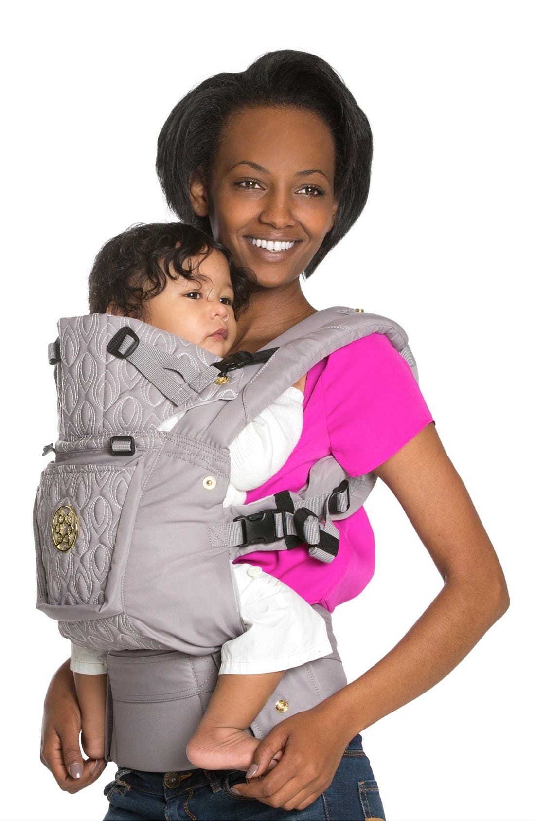 'Complete Embossed Luxe' Baby Carrier, Main, color, PEWTER