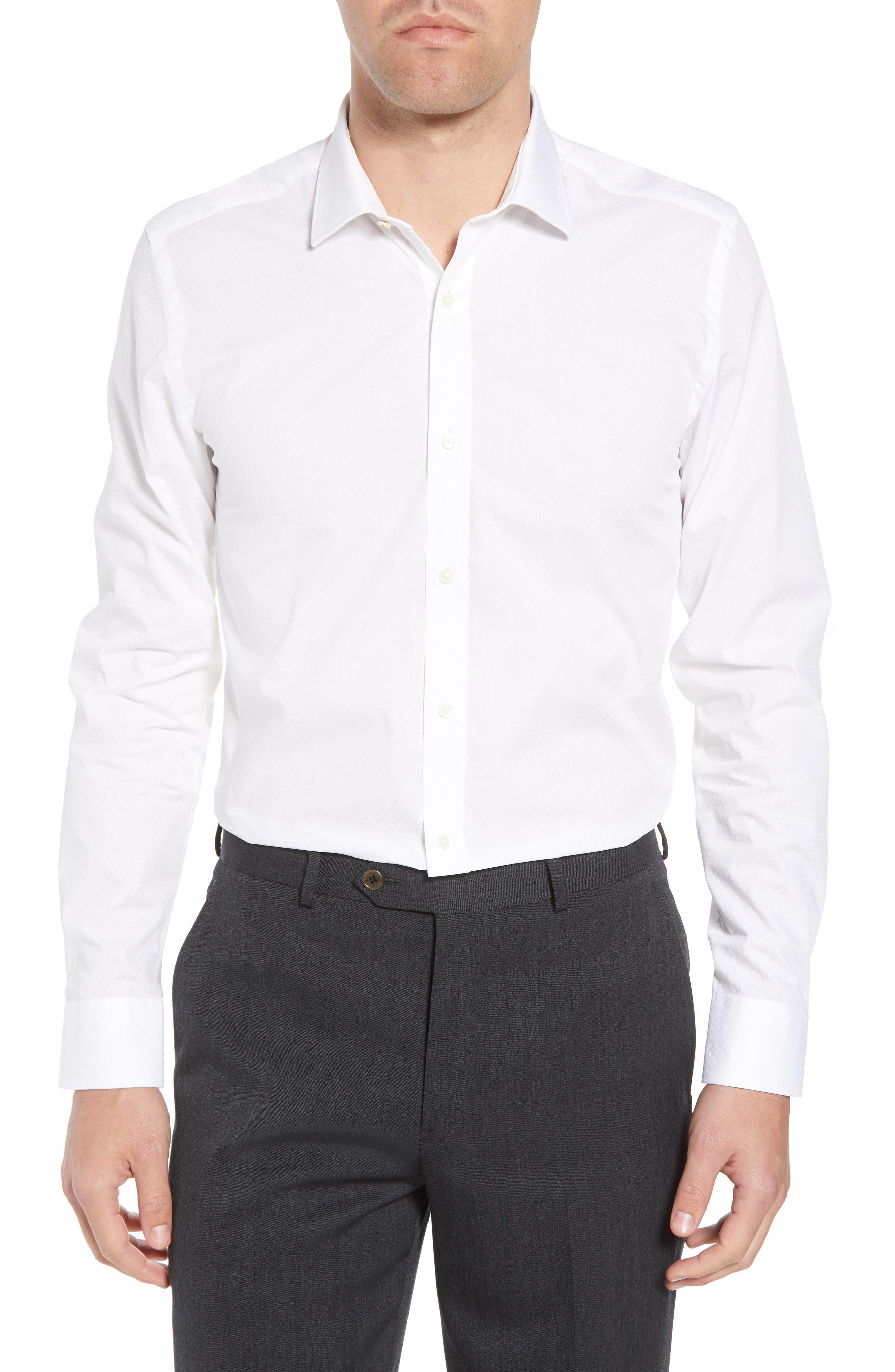 Loops Slim Fit Dress Shirt,                         Main,                         color, 110