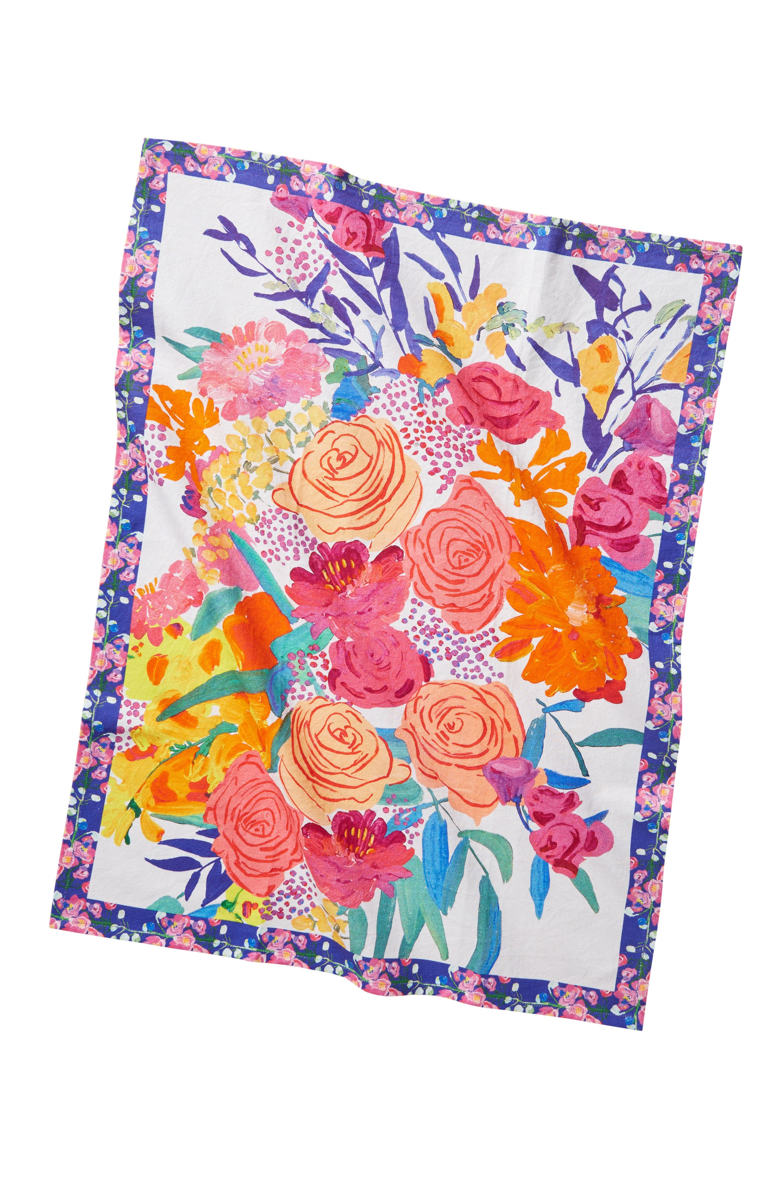Paint + Petals Dishtowel,                             Alternate thumbnail 3, color,                             650