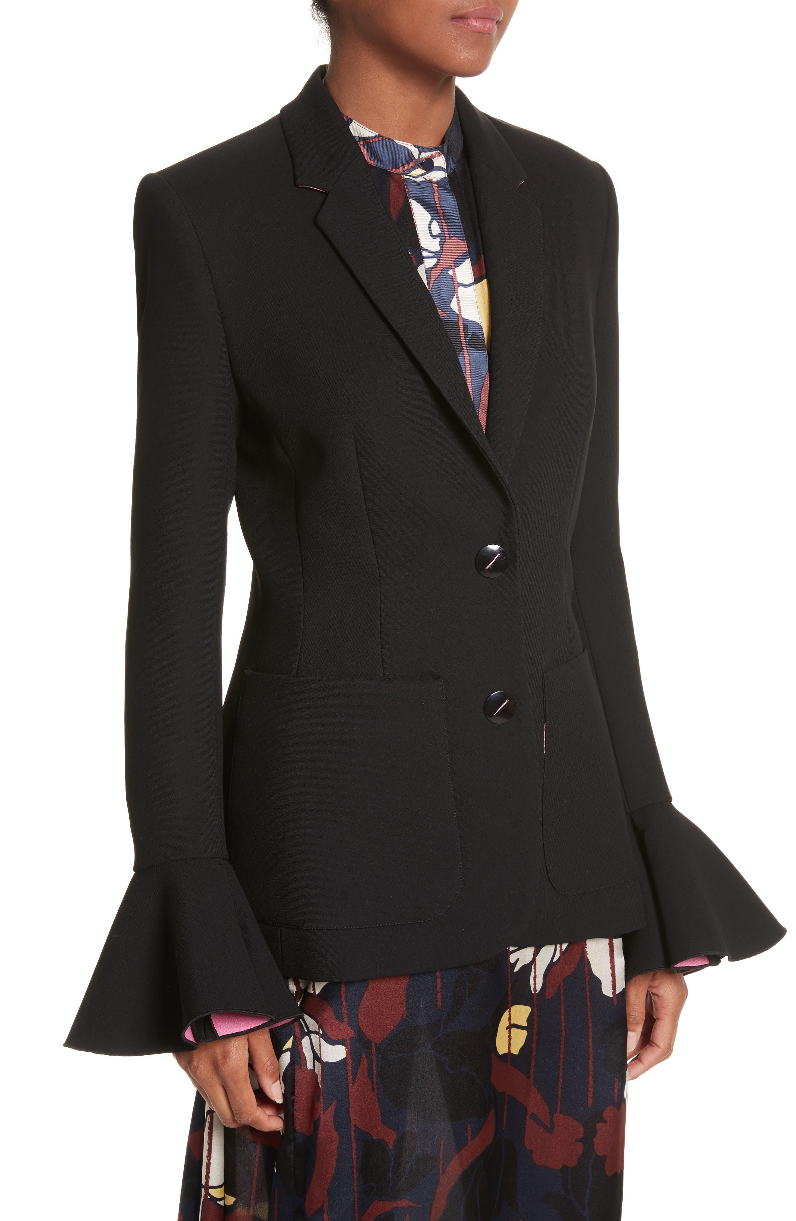 Riva Jacket,                             Alternate thumbnail 4, color,                             BLACK