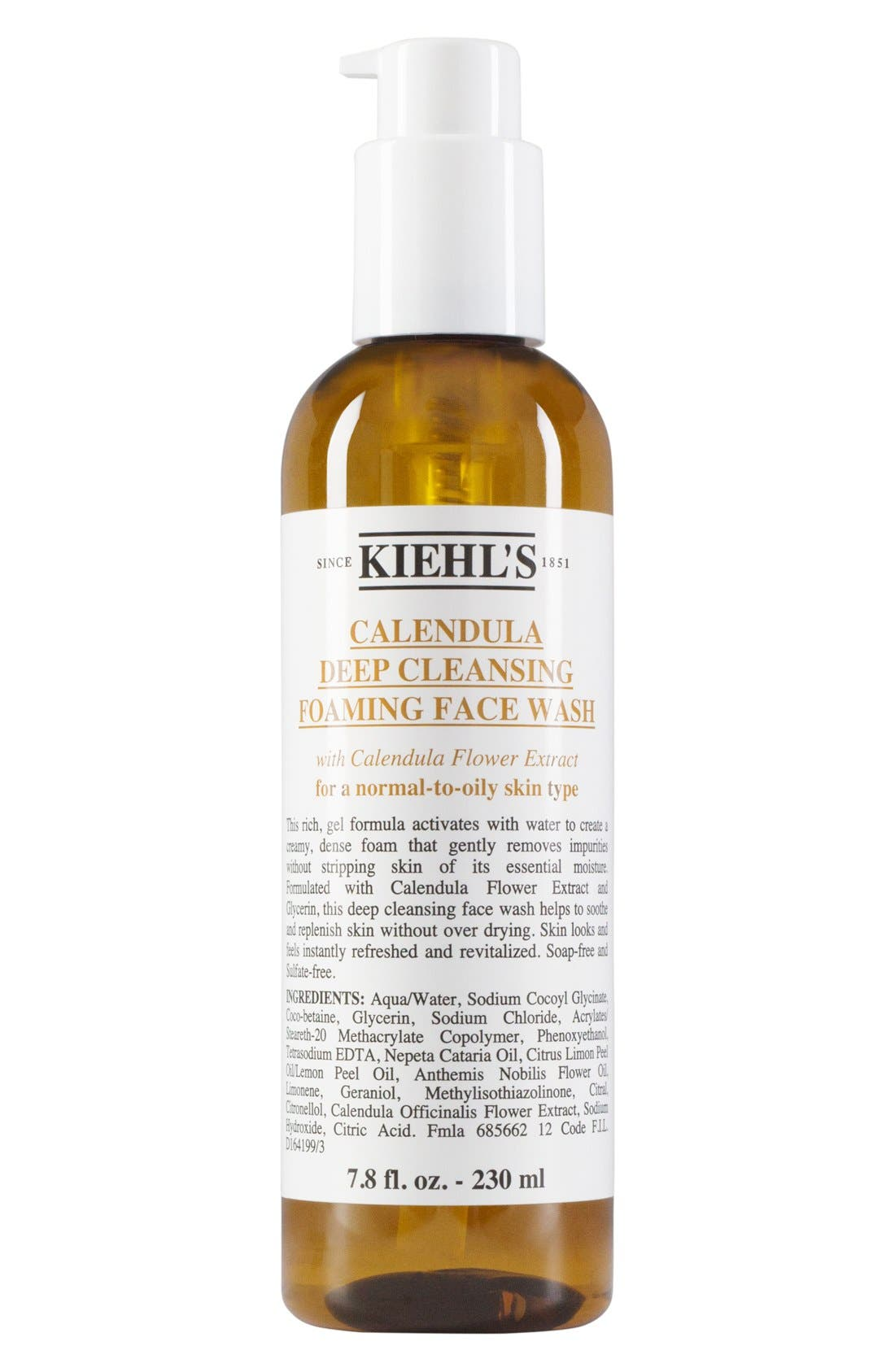 Calendula Deep Cleansing Foaming Face Wash for Normal-to-Oily Skin,                             Main thumbnail 1, color,                             NO COLOR