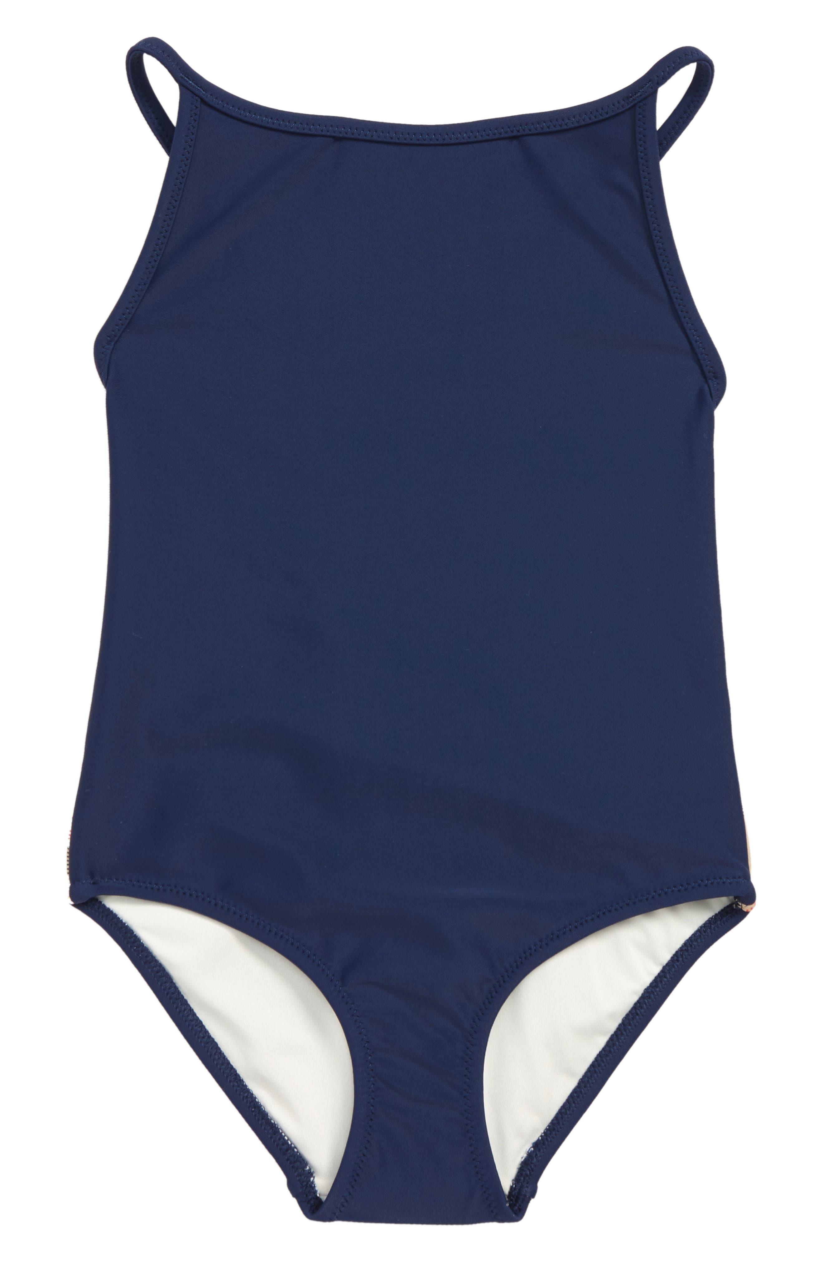 Sandine One-Piece Swimsuit,                         Main,                         color, NAVY