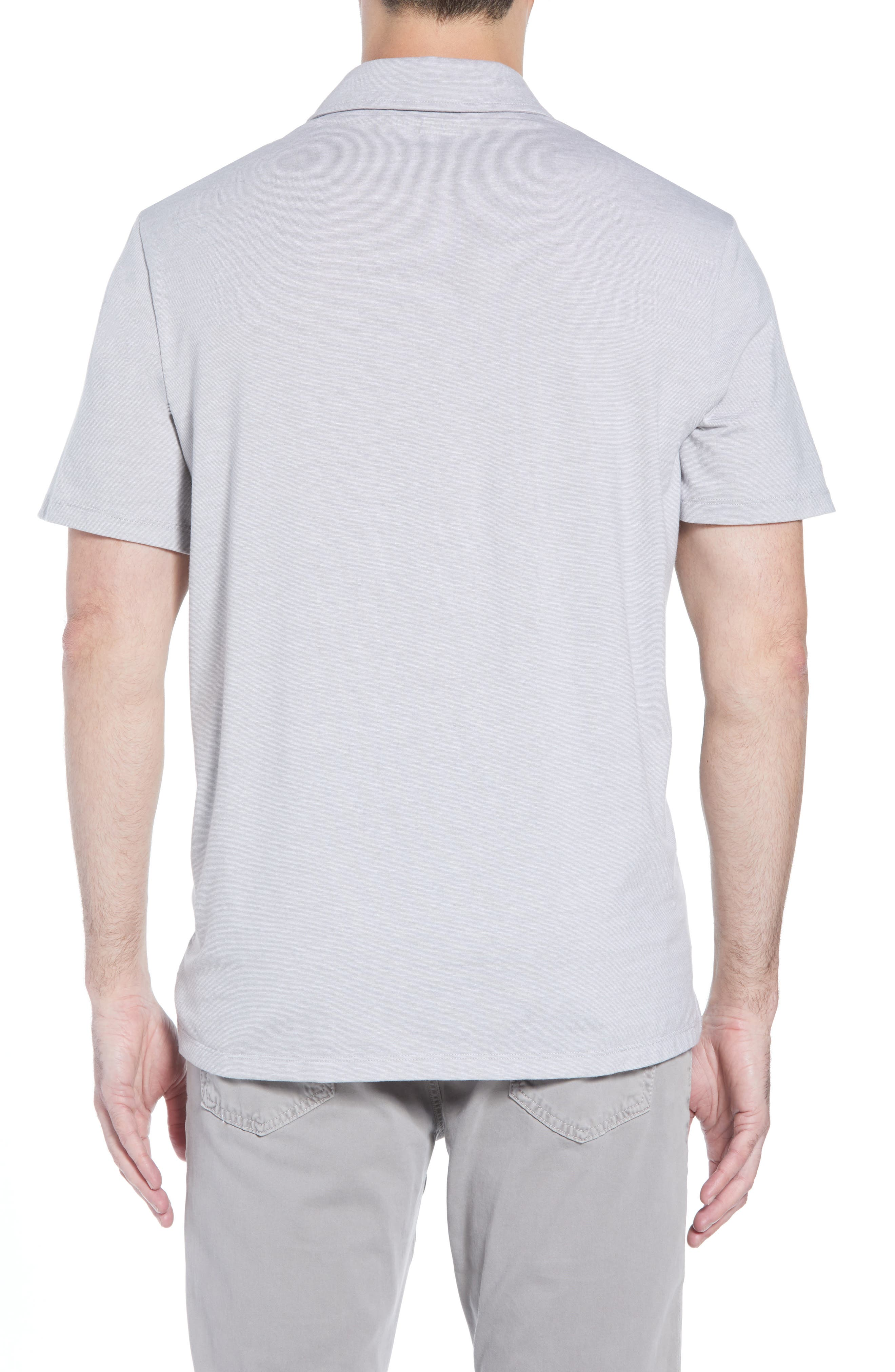 Edgartown Polo Shirt,                             Alternate thumbnail 2, color,                             MONUMENT GRAY