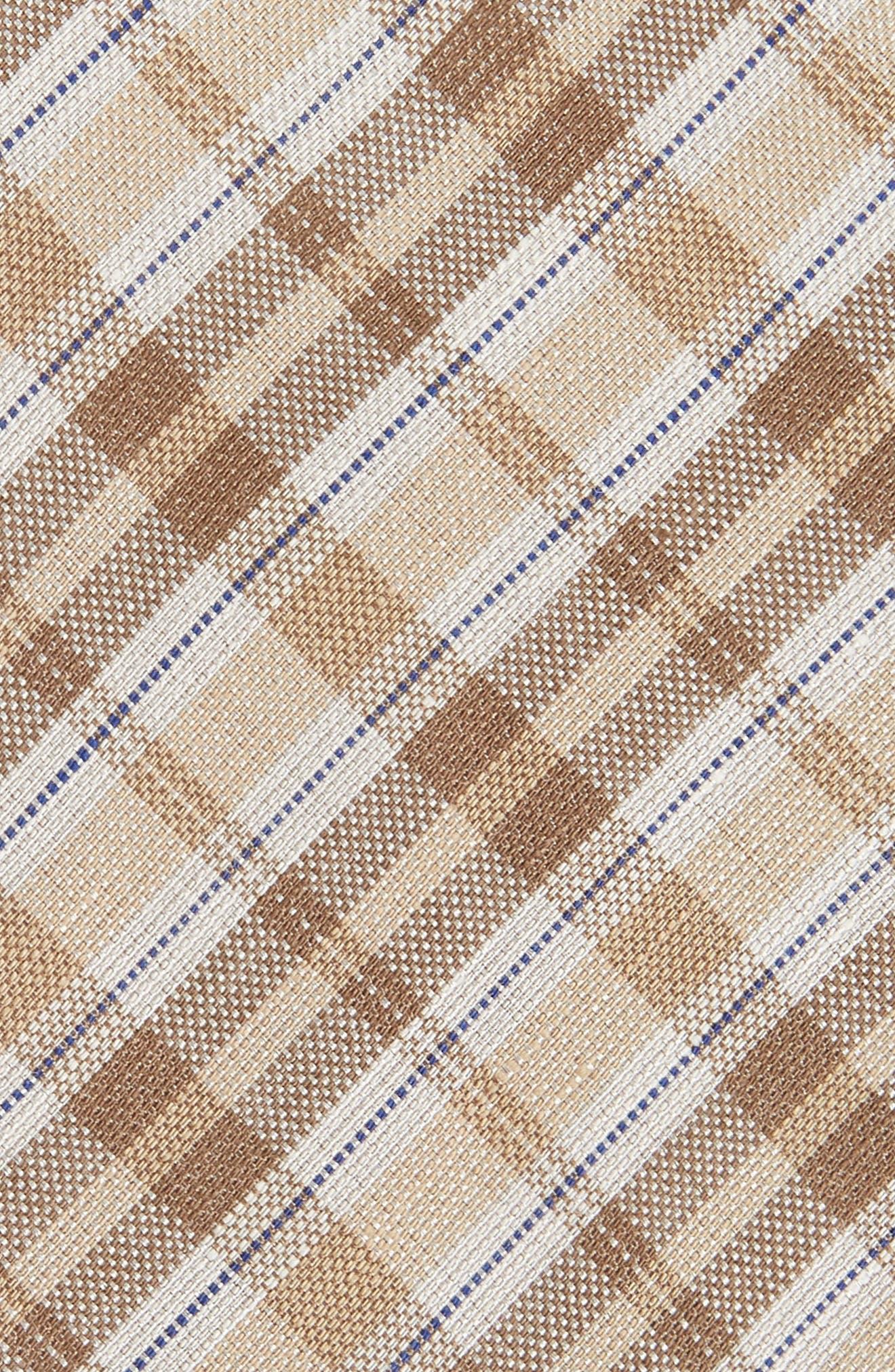 Plaid Linen & Silk Tie,                             Alternate thumbnail 2, color,                             294