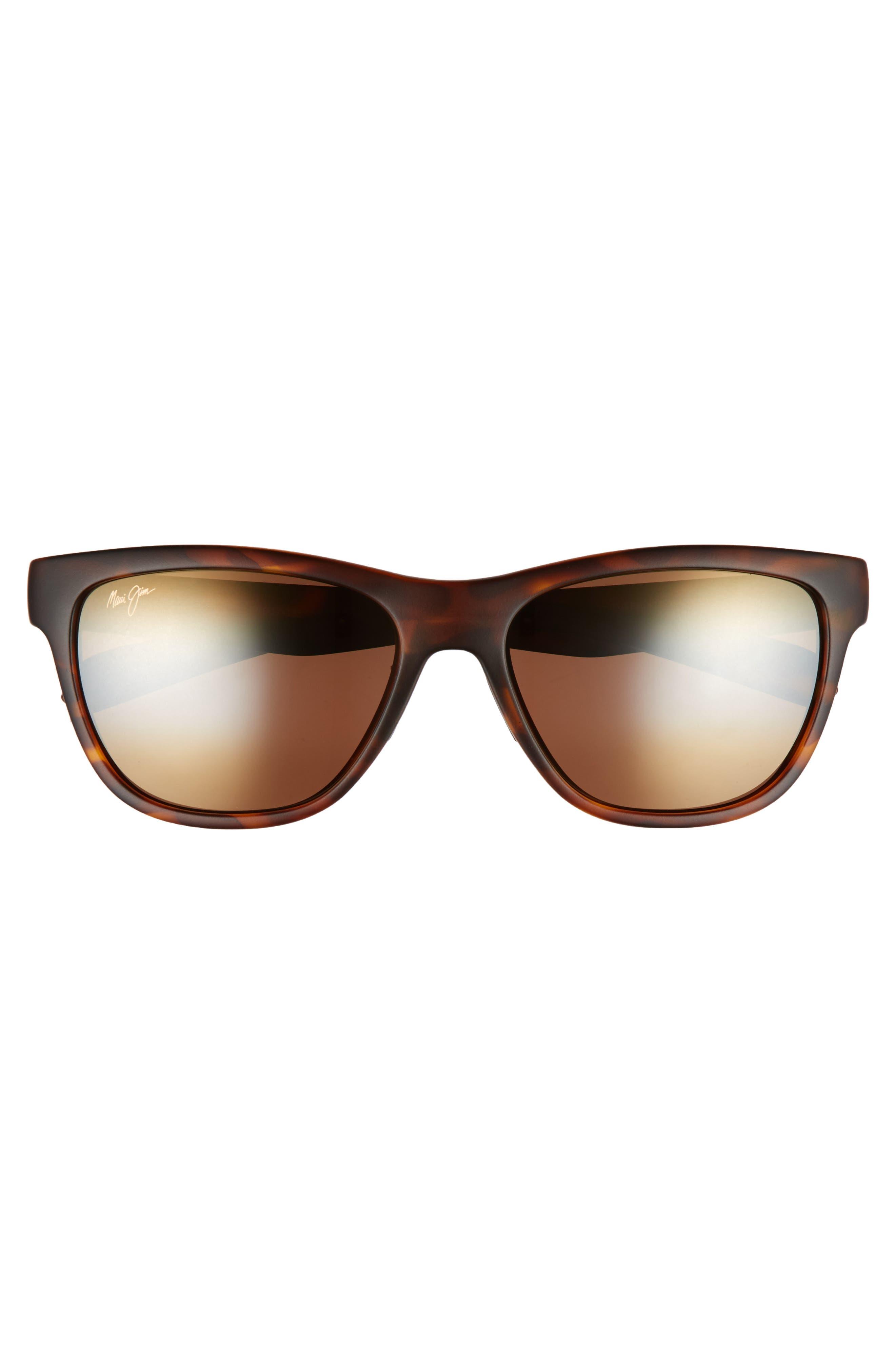 Secrets 56mm PolarizedPlus2<sup>®</sup> Sunglasses,                             Alternate thumbnail 3, color,                             MATTE TORTOISE/ BRONZE