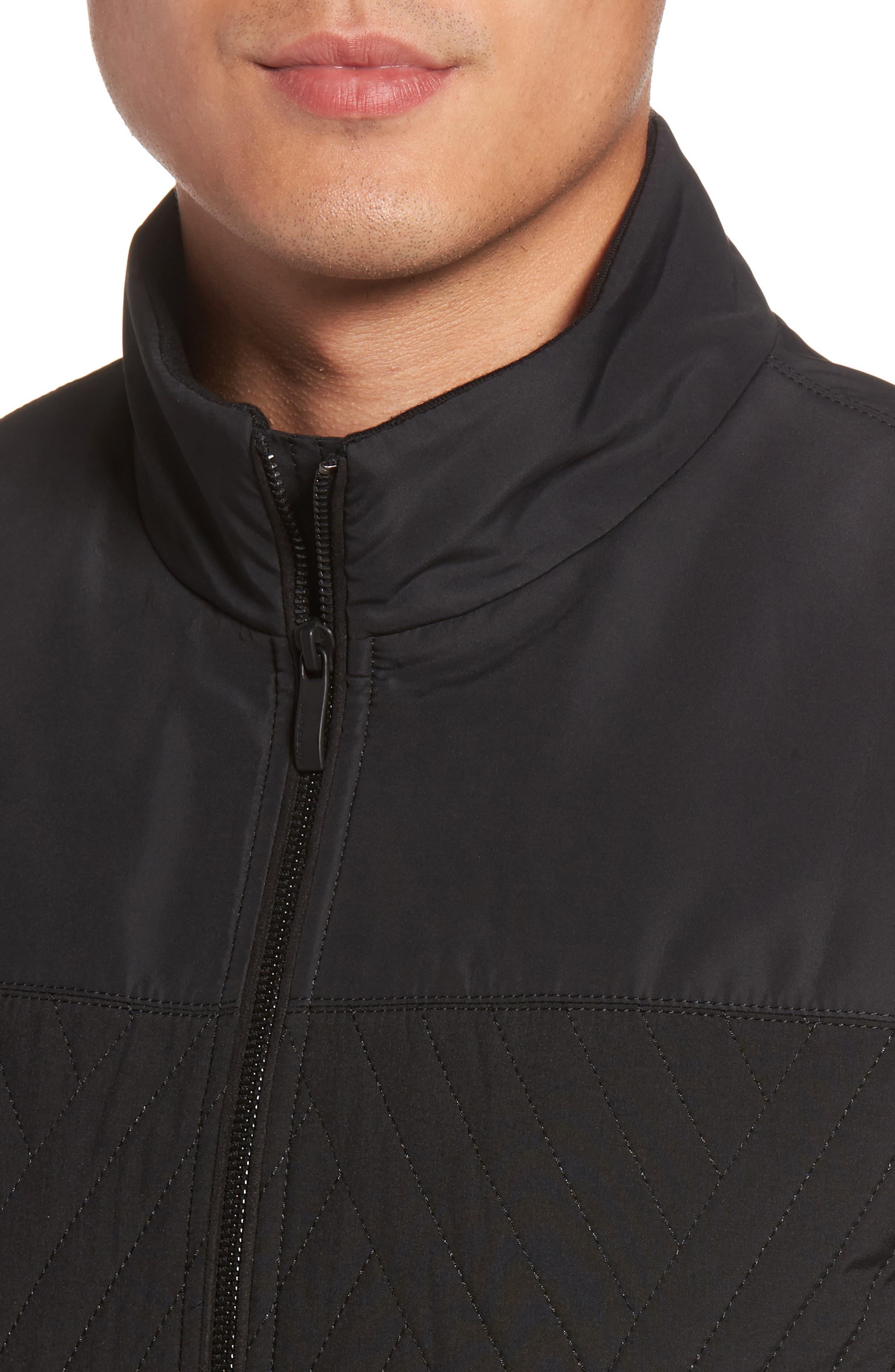 VINCE CAMUTO,                             Slim Fit Quilted Vest,                             Alternate thumbnail 4, color,                             BLACK