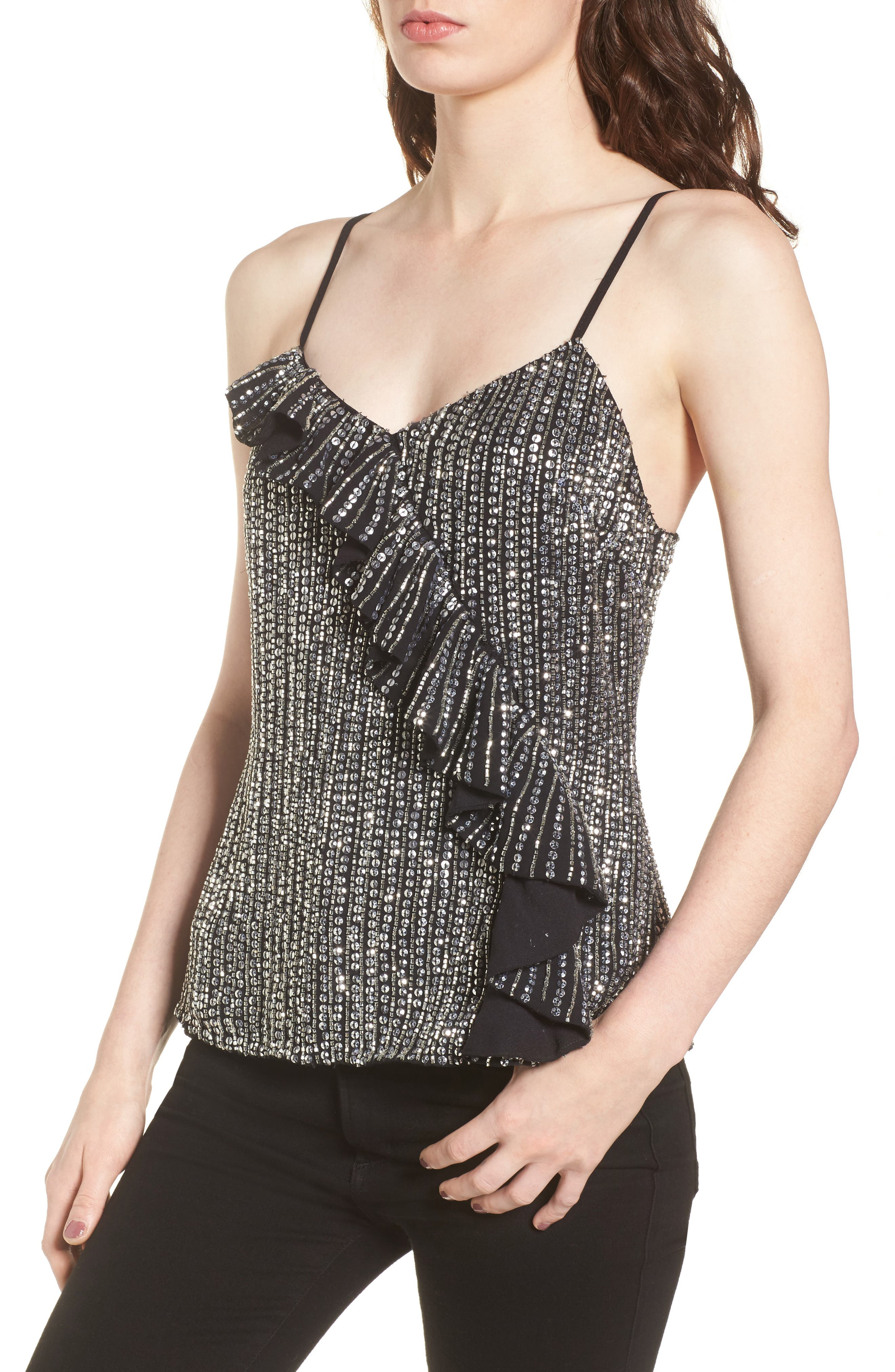 Justine Sequin Camisole,                             Main thumbnail 1, color,
