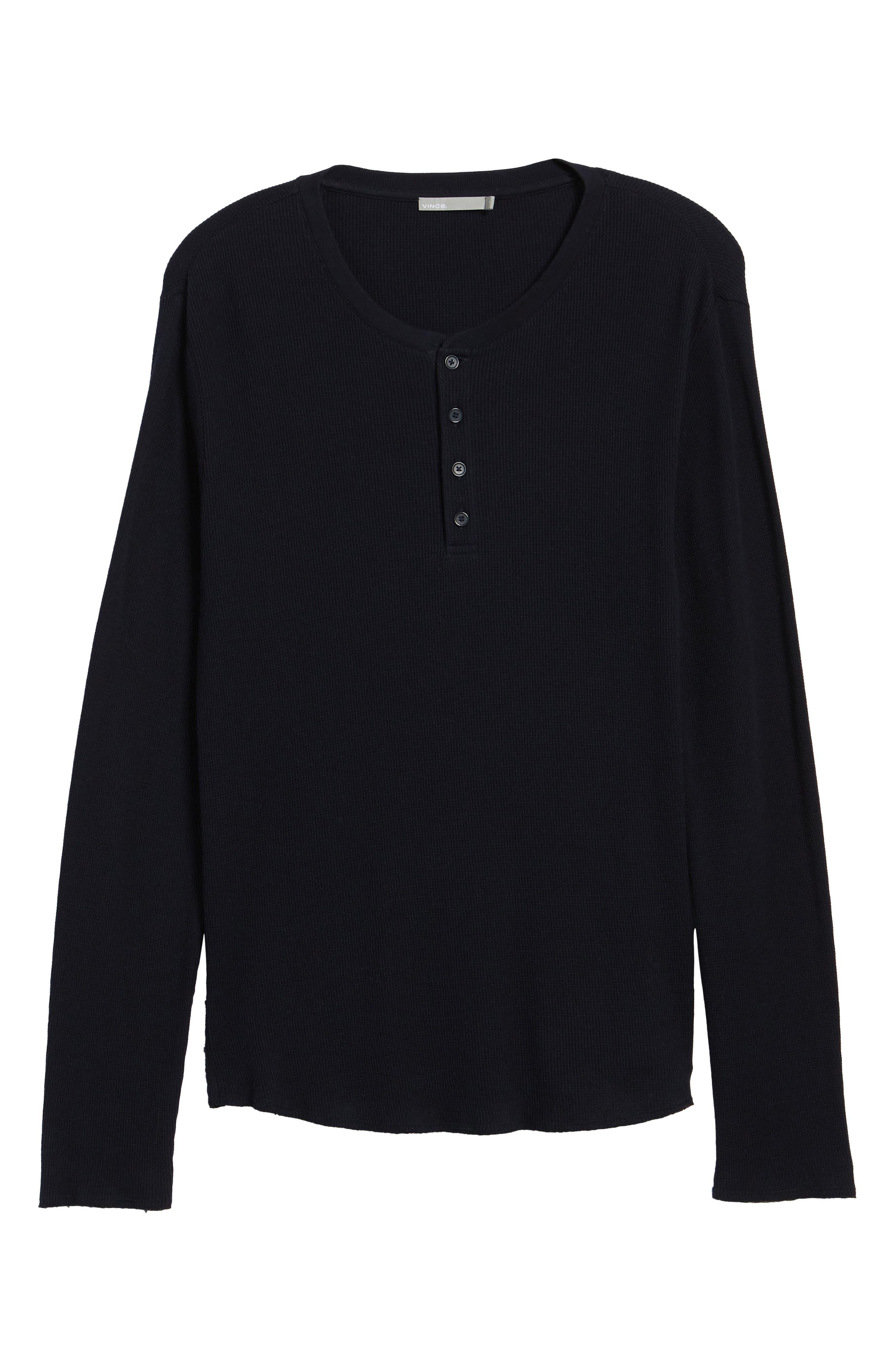 Thermal Knit Long Sleeve Henley T-Shirt,                             Alternate thumbnail 12, color,