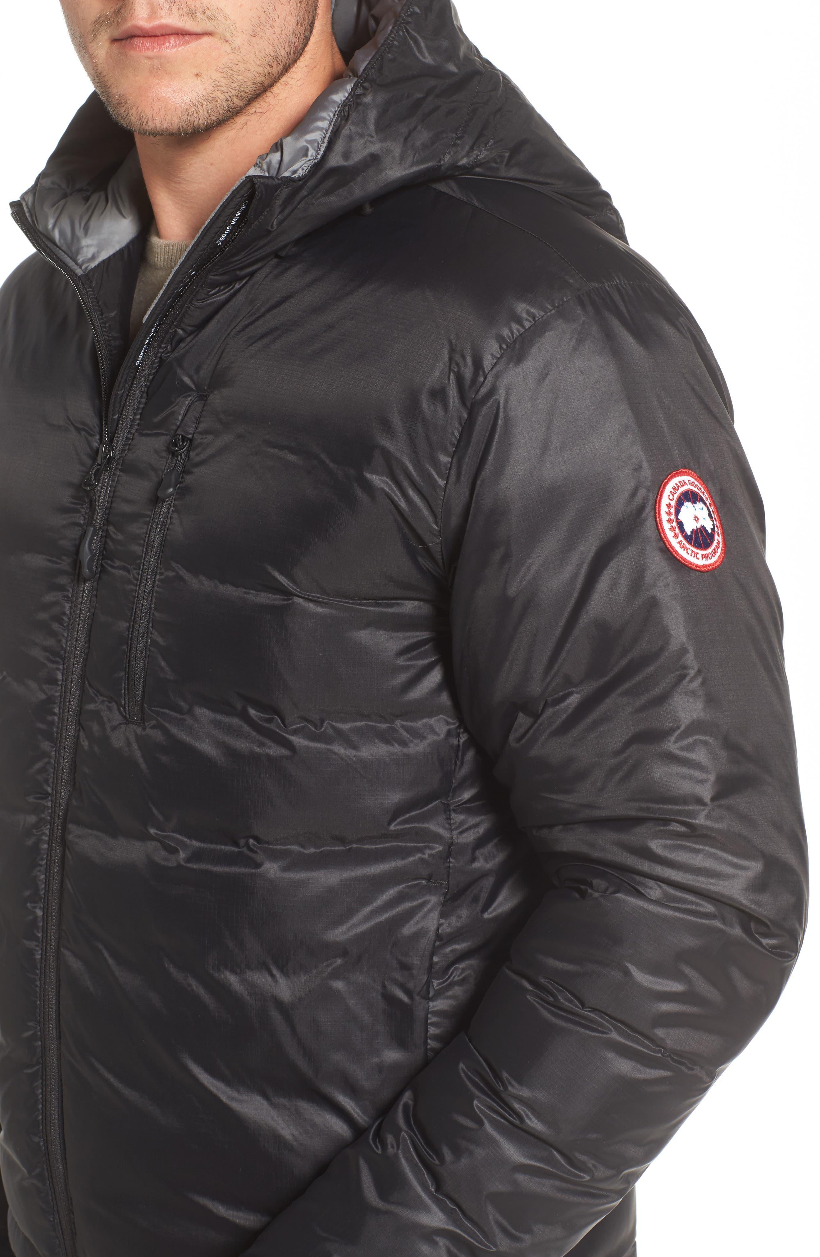 'Lodge' Slim Fit Packable Jacket,                             Alternate thumbnail 4, color,                             BLACK