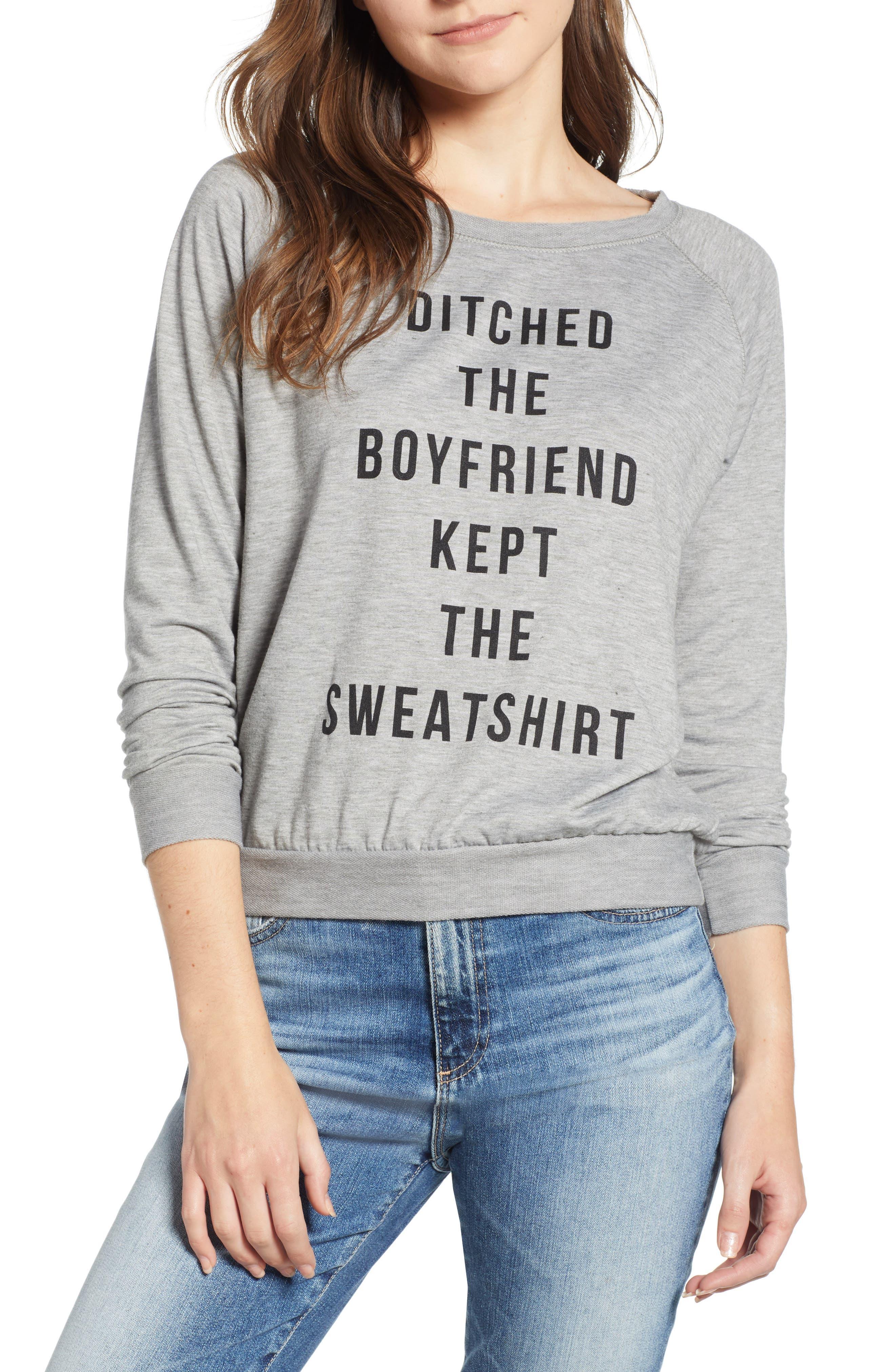 Ditched the Boyfriend Sweatshirt,                         Main,                         color,