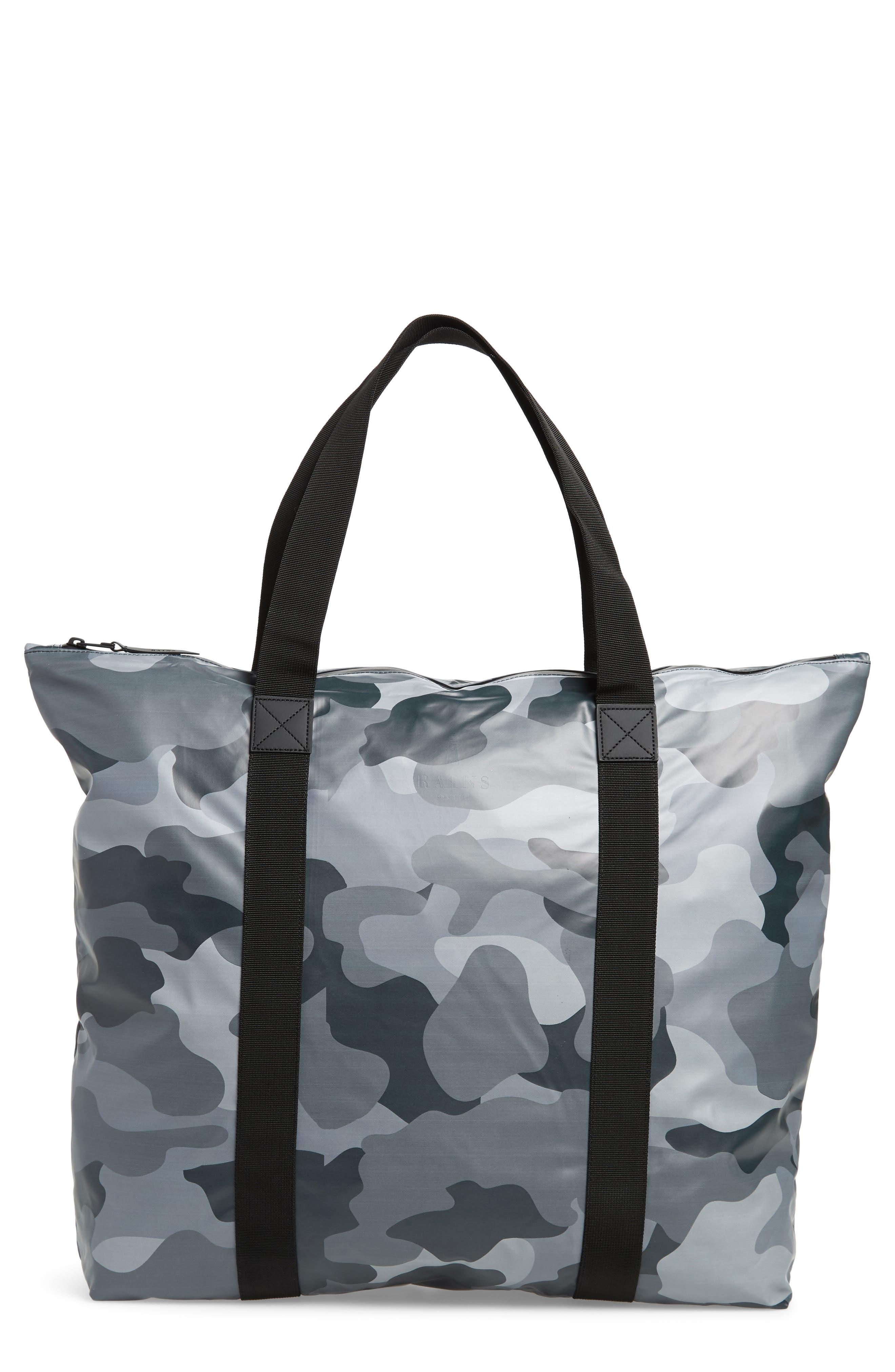 Camo Print Tote Bag,                         Main,                         color, NIGHT CAMO