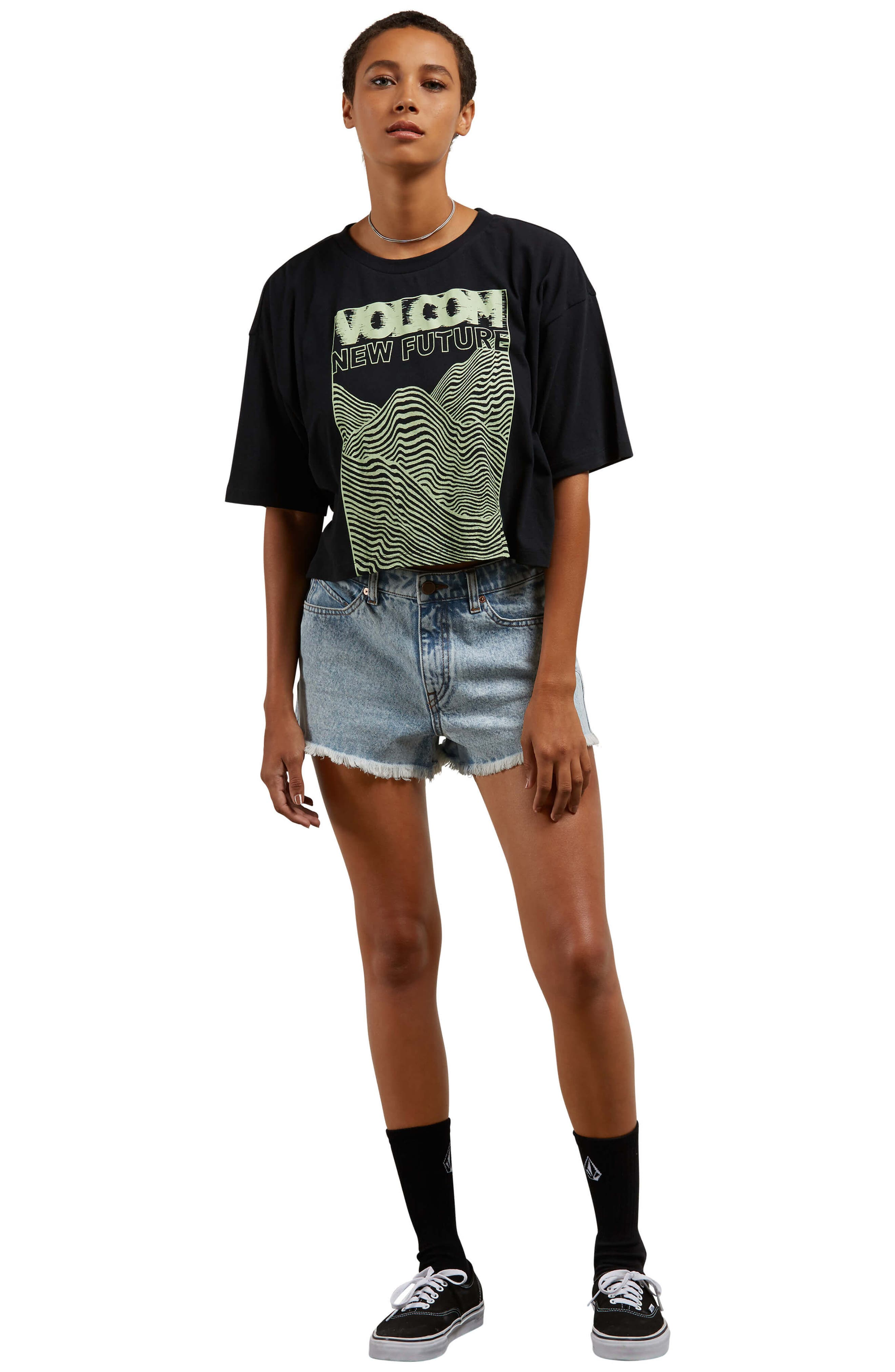 1991 Cutoff Denim Shorts,                             Alternate thumbnail 9, color,