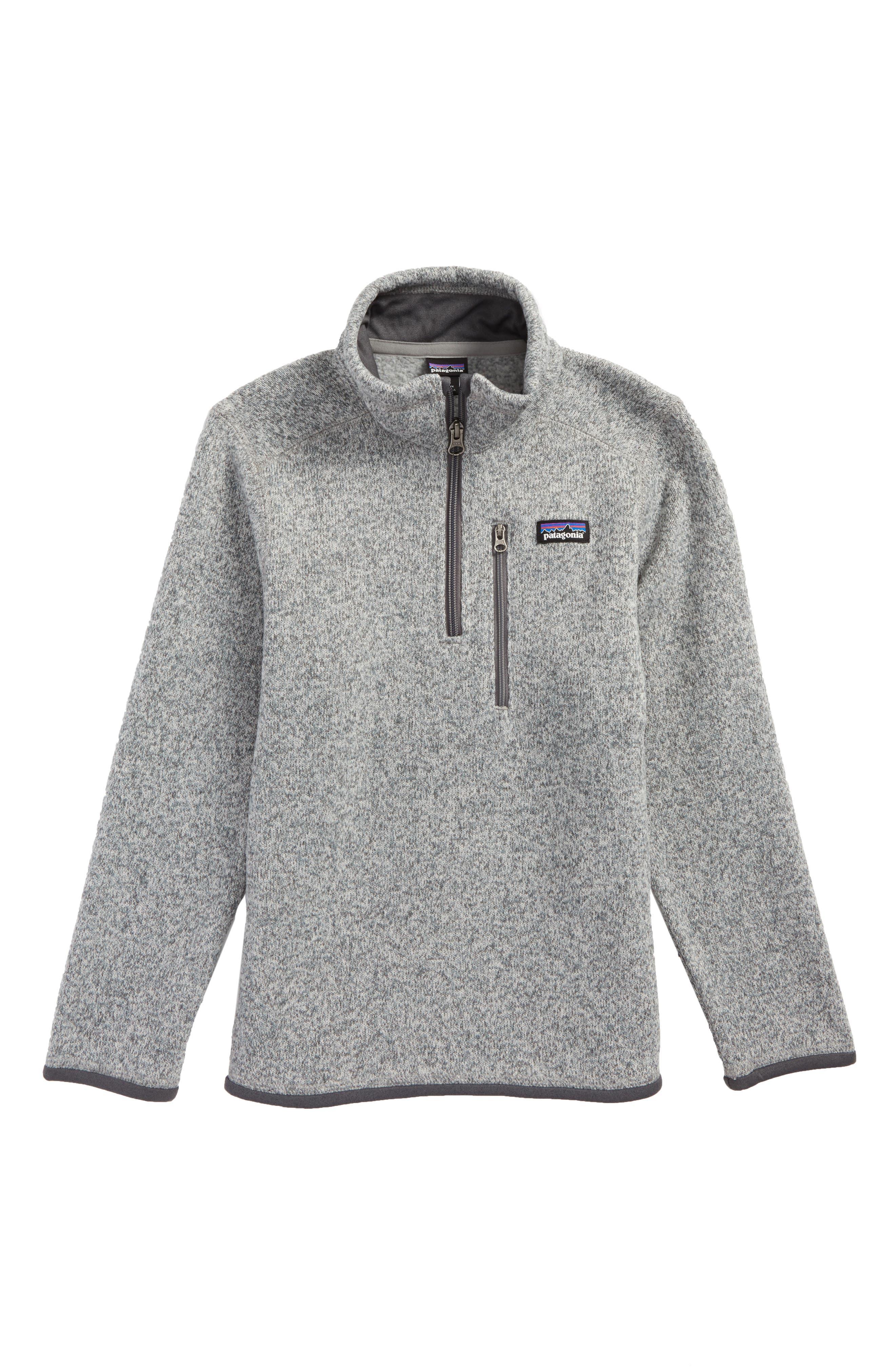 Better Sweater Quarter Zip Pullover,                             Main thumbnail 1, color,                             STONEWASH