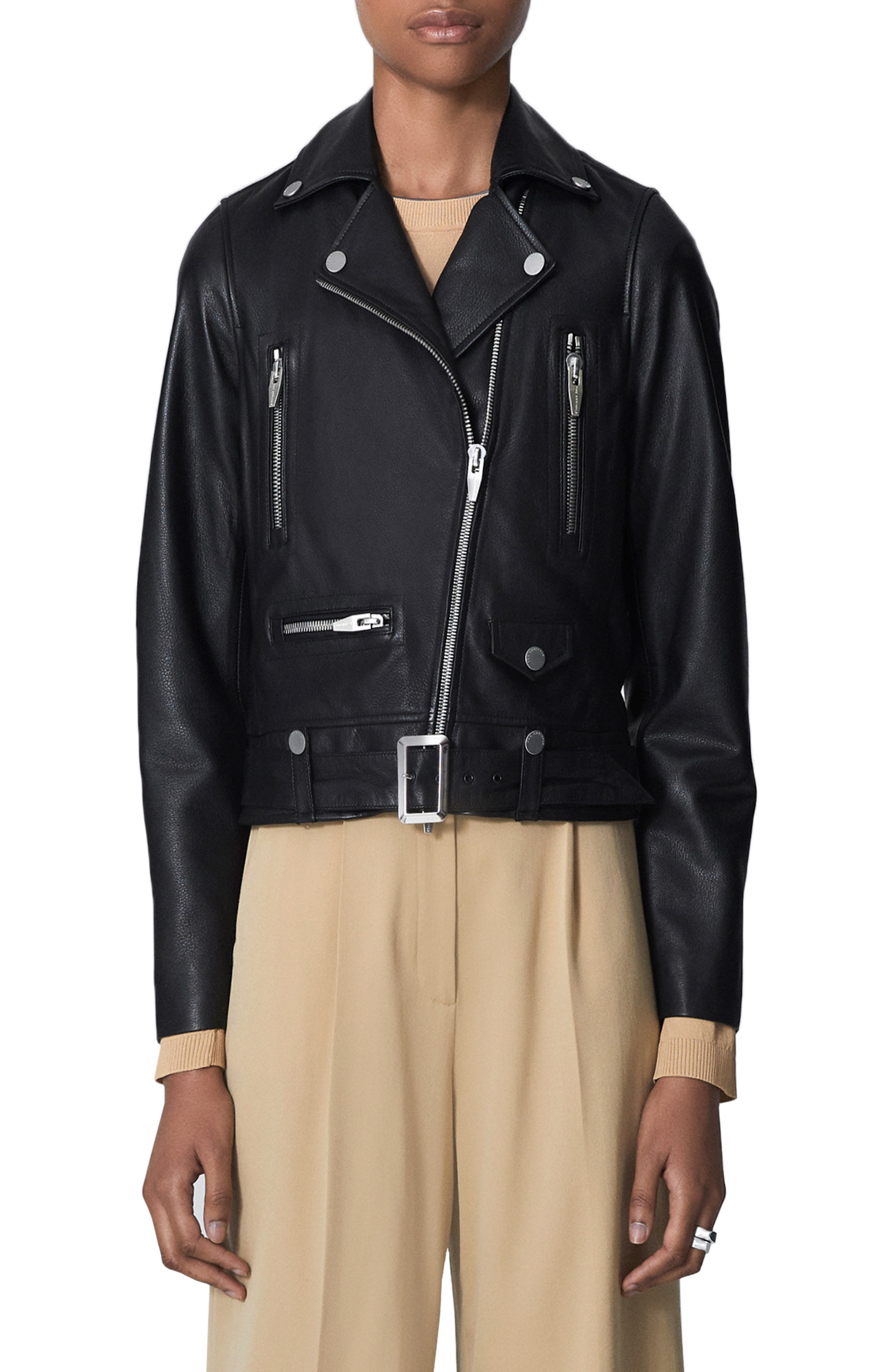 THE ARRIVALS Clo Ii Leather Jacket in Black