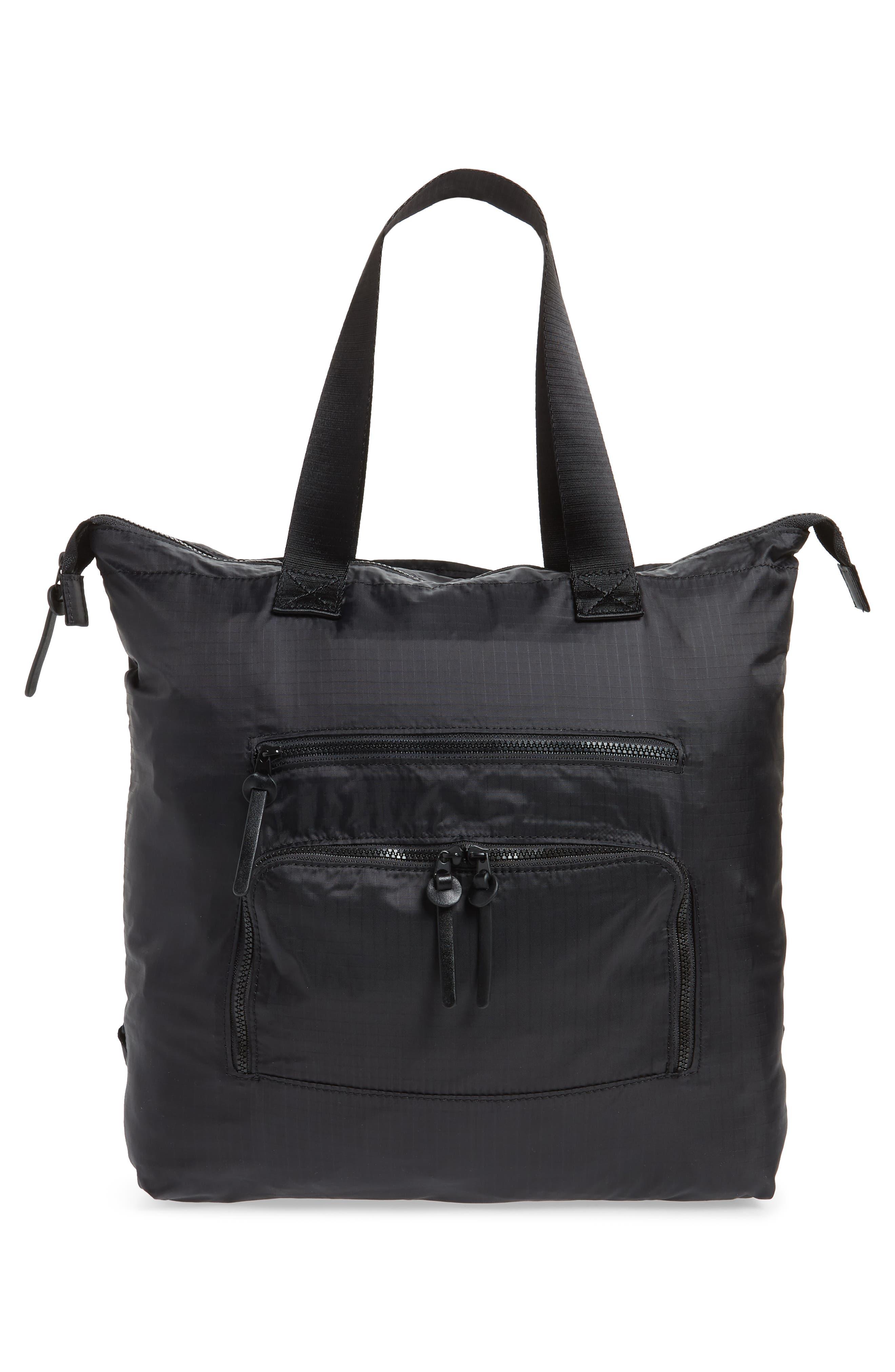 Packable Convertible Backpack,                             Alternate thumbnail 3, color,                             BLACK