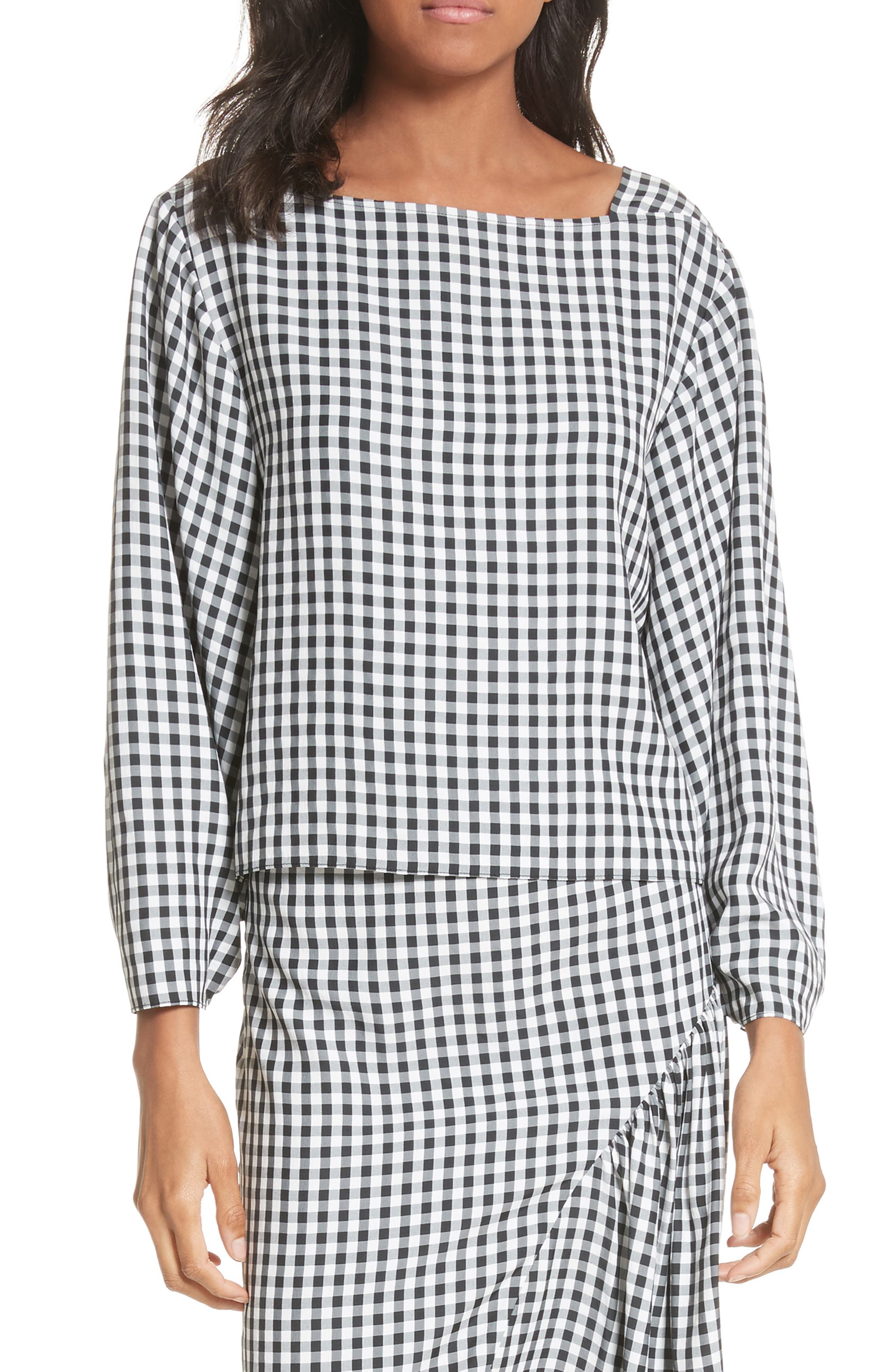 Gingham Top,                         Main,                         color, 006