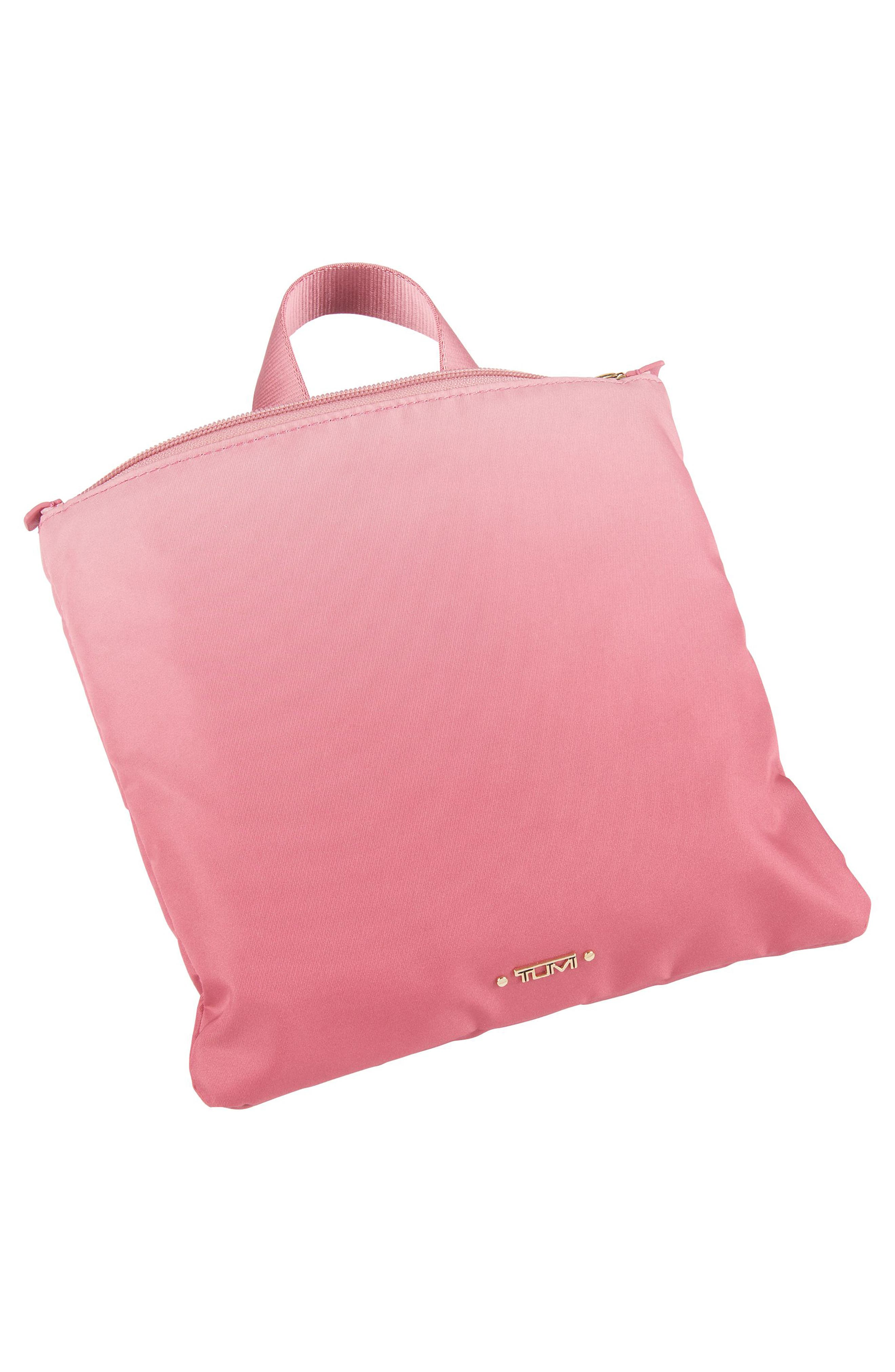 Voyageur - Just in Case Nylon Travel Backpack,                             Alternate thumbnail 4, color,                             PINK OMBRE