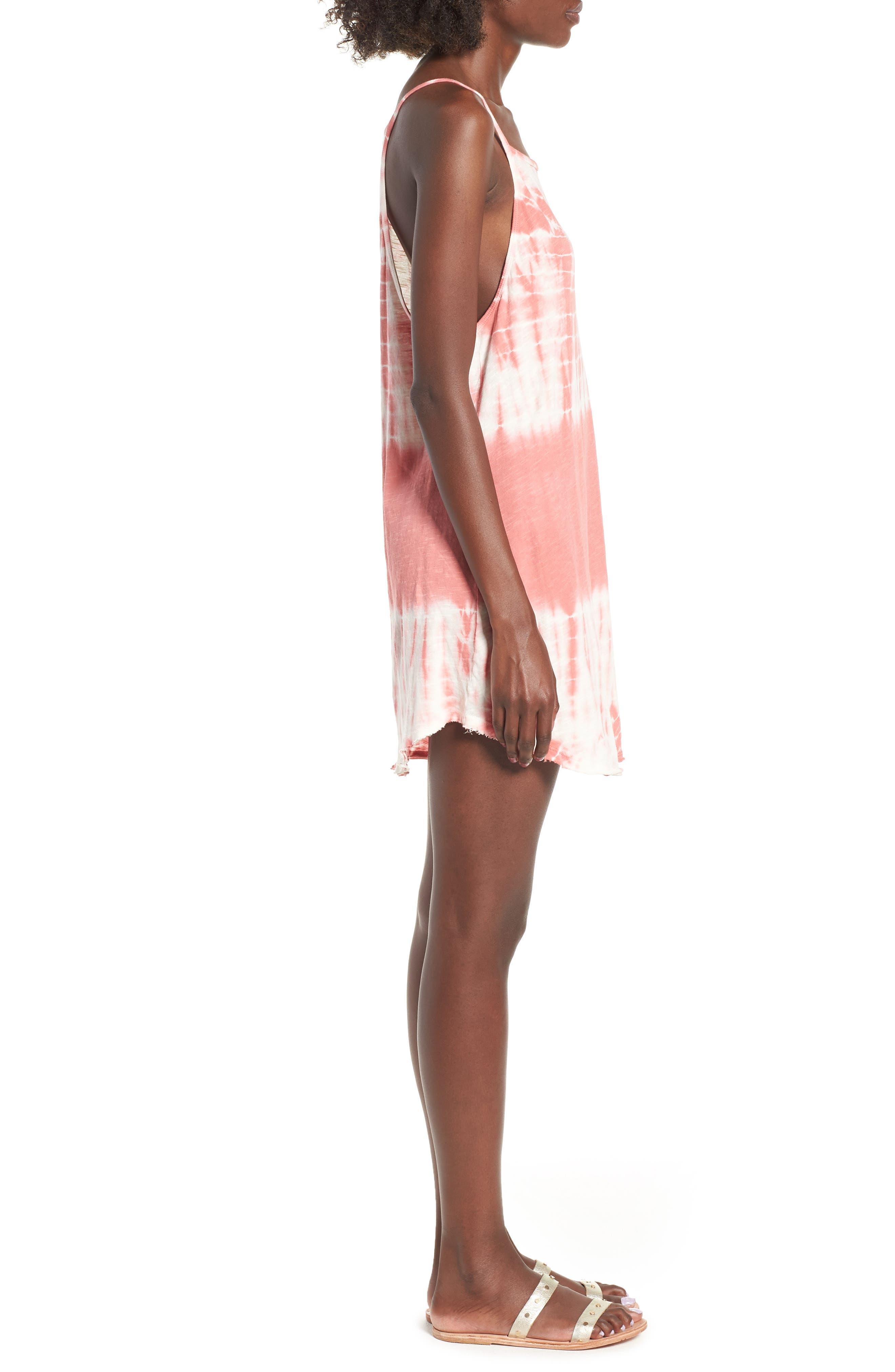 Turn Away Tie Dye Dress,                             Alternate thumbnail 3, color,                             SUNBURNT