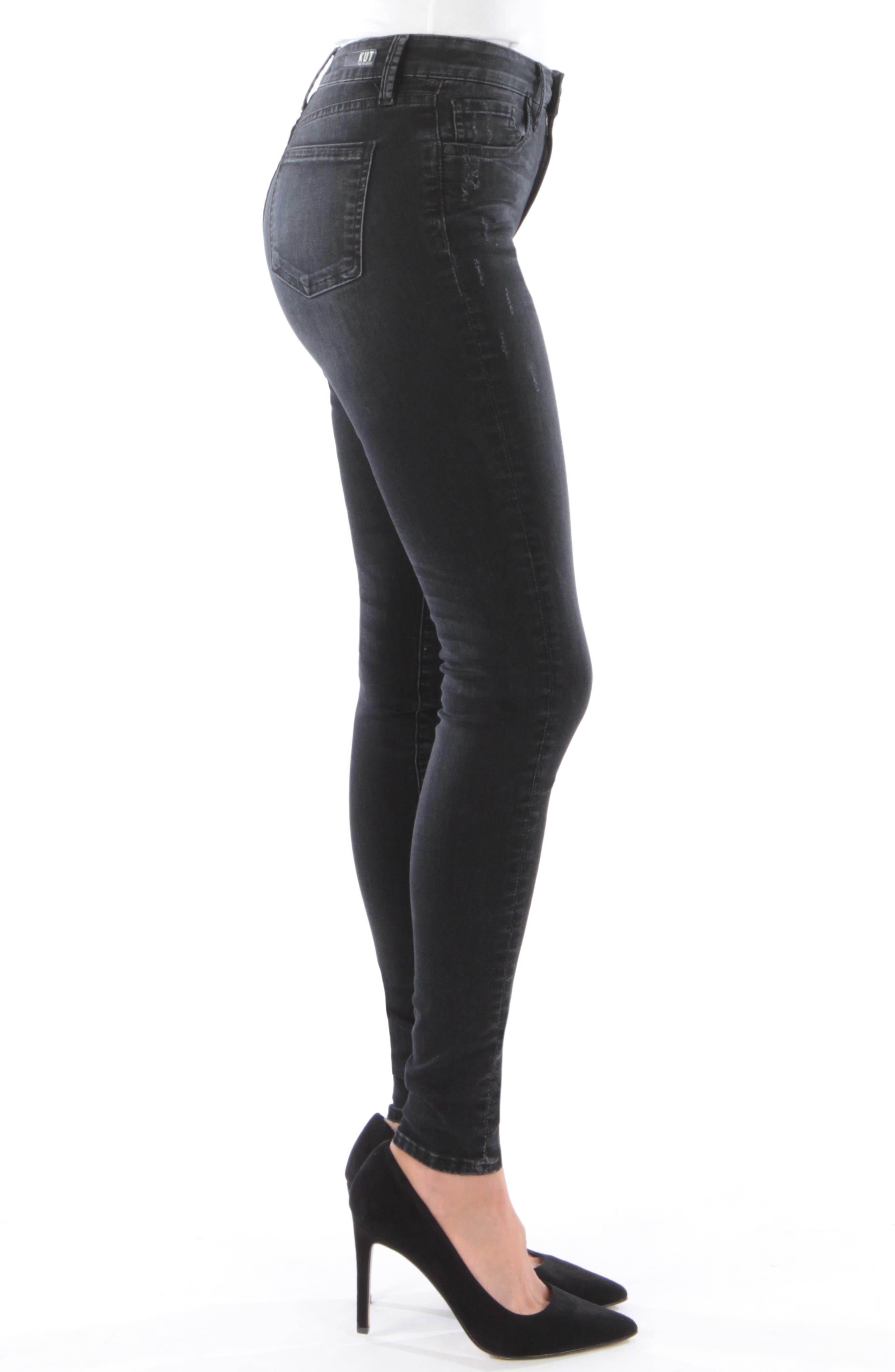 Mia High Waist Skinny Jeans,                             Alternate thumbnail 3, color,                             007