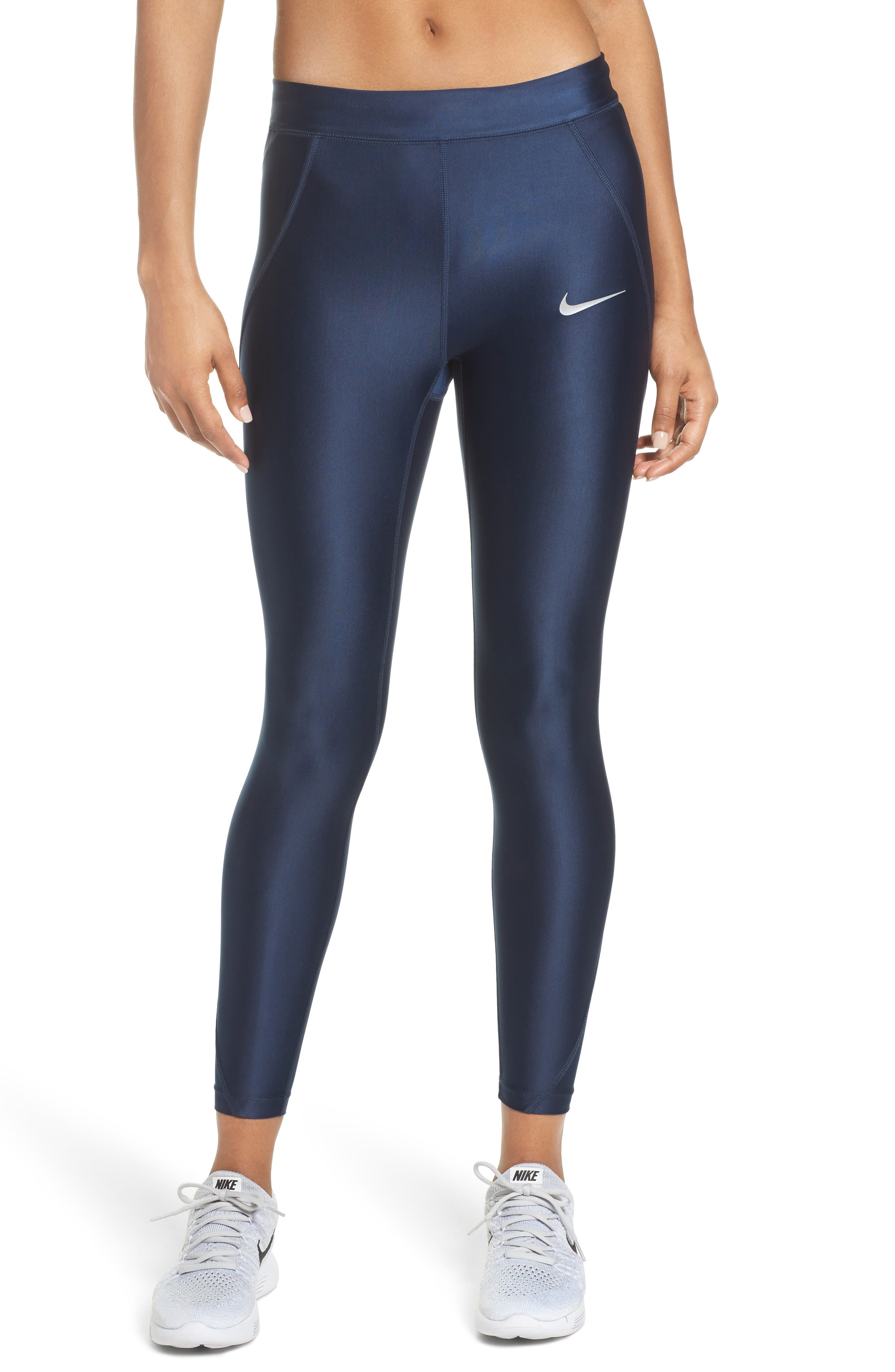 Power Speed 7/8 Running Tights,                             Main thumbnail 1, color,                             OBSIDIAN