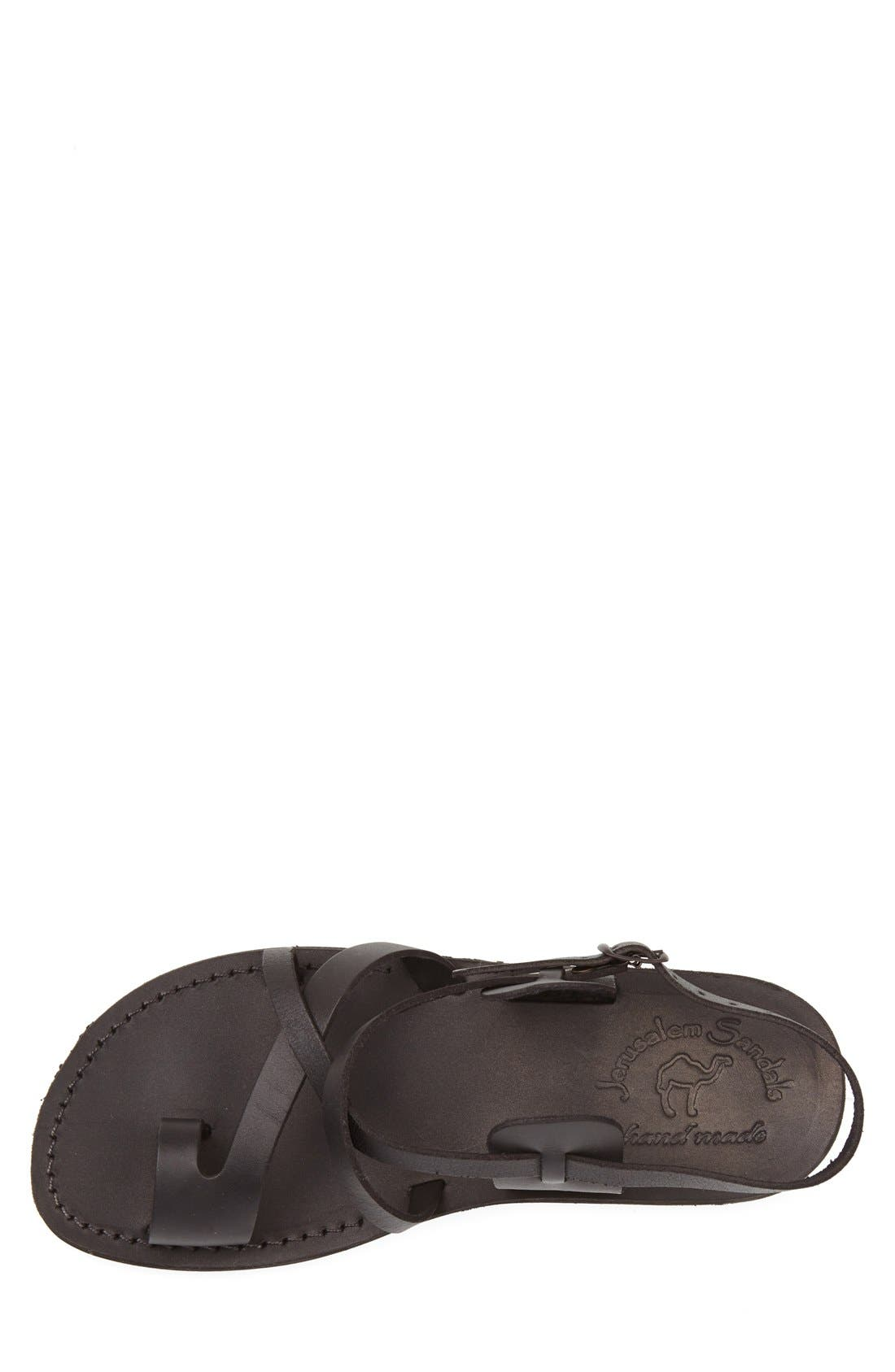 'The Good Shepherd' Leather Sandal,                             Alternate thumbnail 2, color,                             BLACK