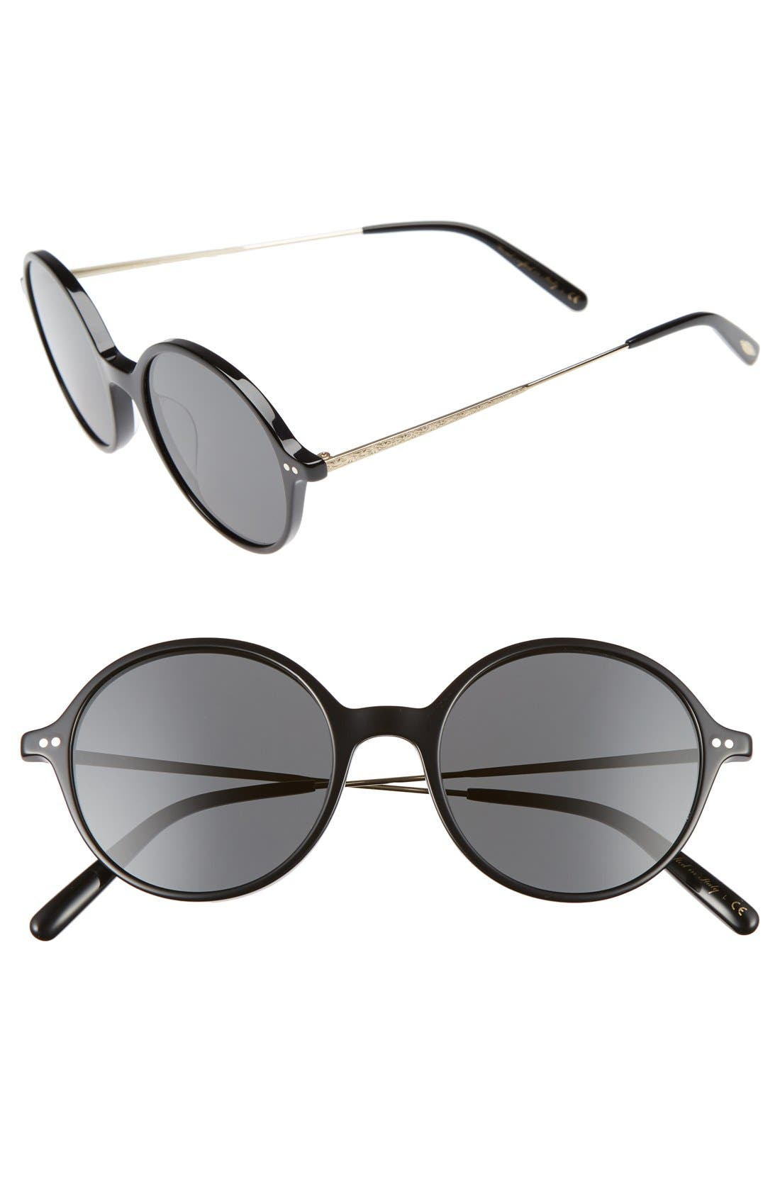 Corby 51mm Round Sunglasses,                             Main thumbnail 2, color,