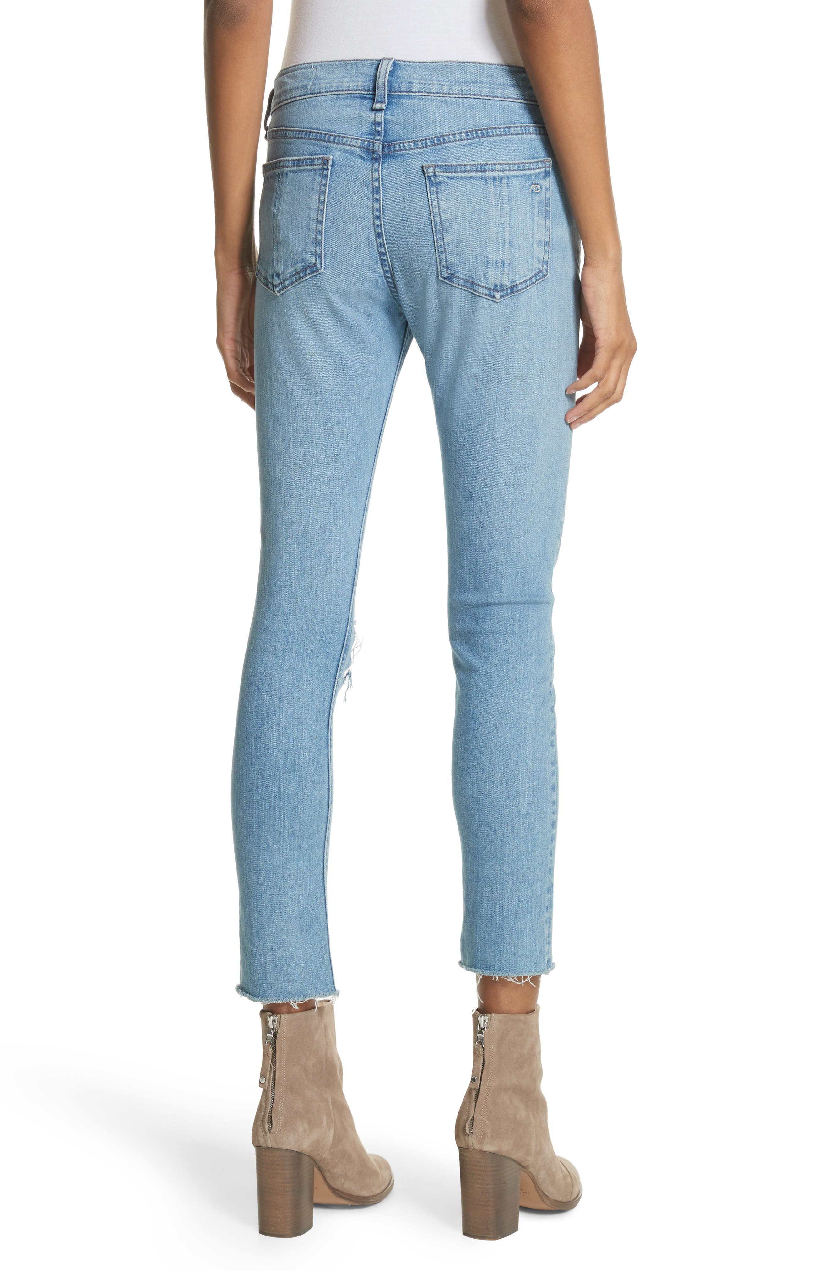 Ripped Ankle Skinny Jeans,                             Alternate thumbnail 2, color,                             425