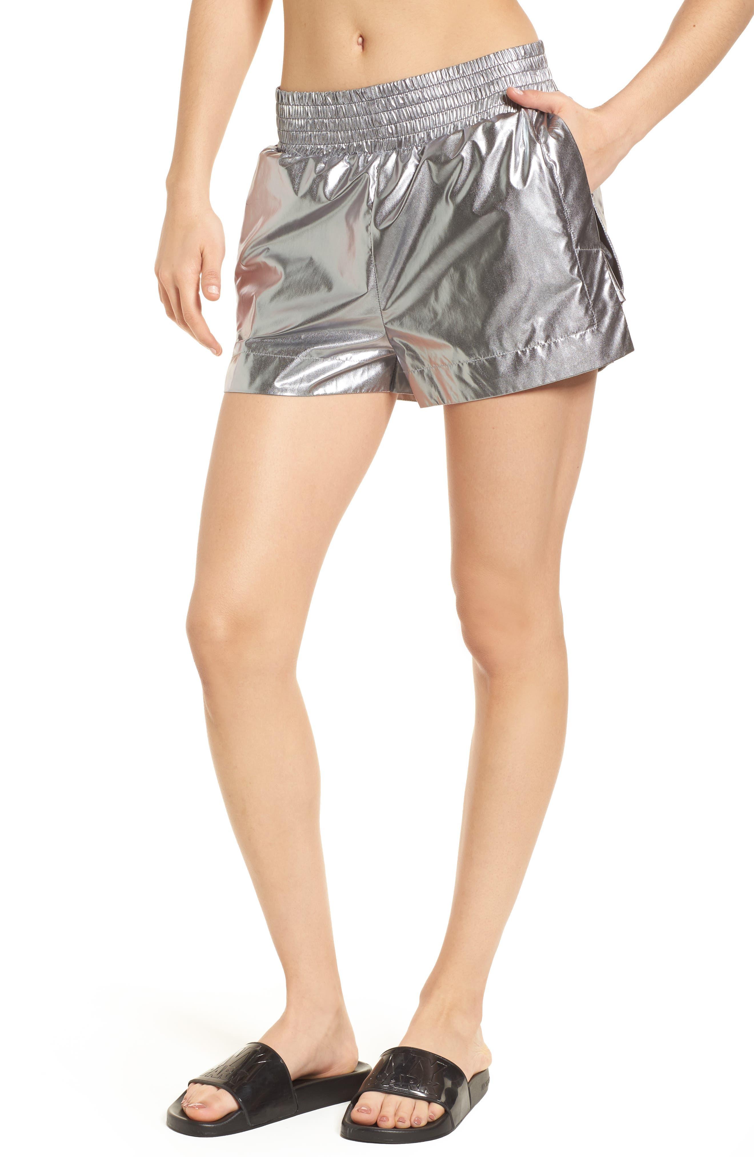 Logo Insert Metallic Shorts,                         Main,                         color, 040