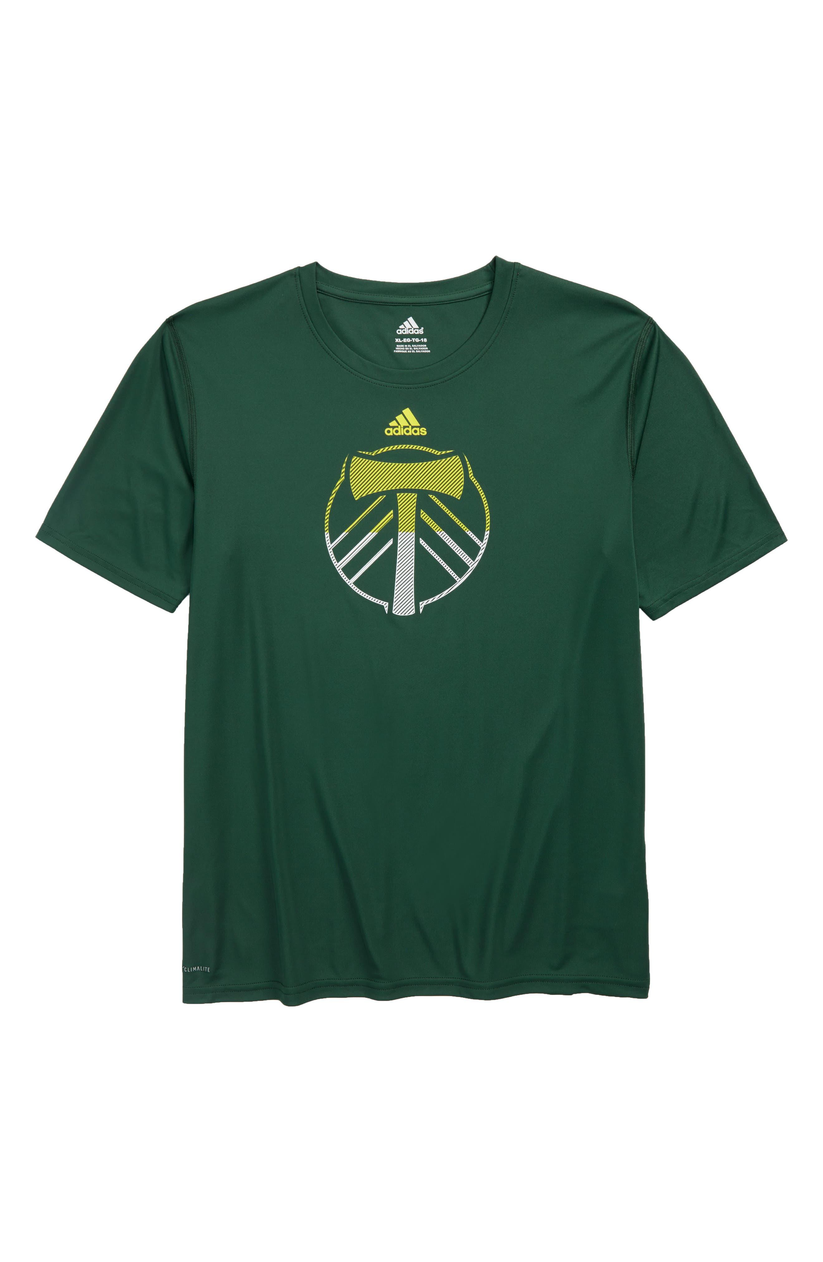MLS Portland Timbers Climalite<sup>®</sup> T-Shirt,                             Main thumbnail 1, color,                             300