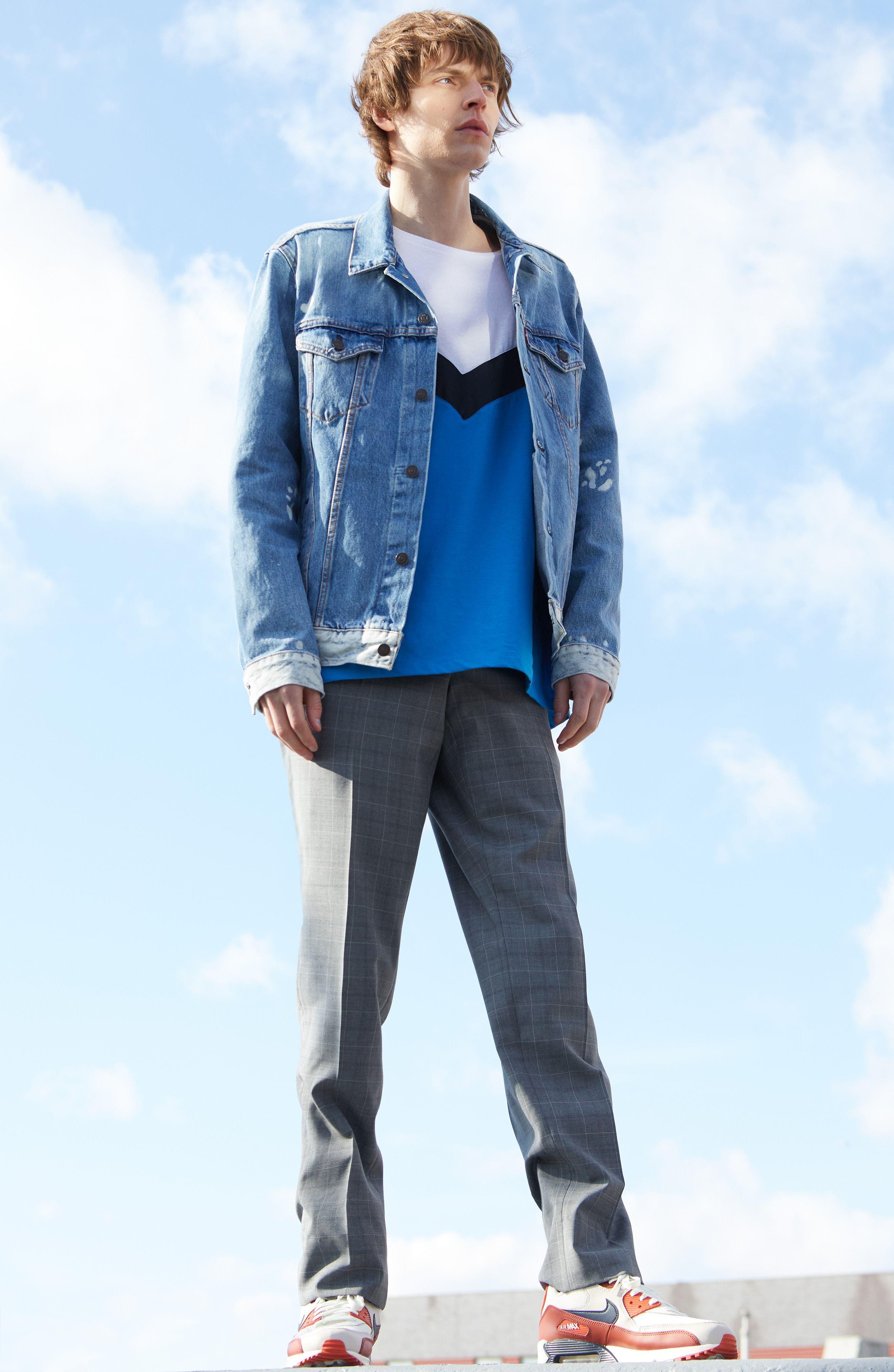 Air Max 90 Essential Sneaker,                             Alternate thumbnail 7, color,                             WOLF GREY/ CRIMSON/ BLACK