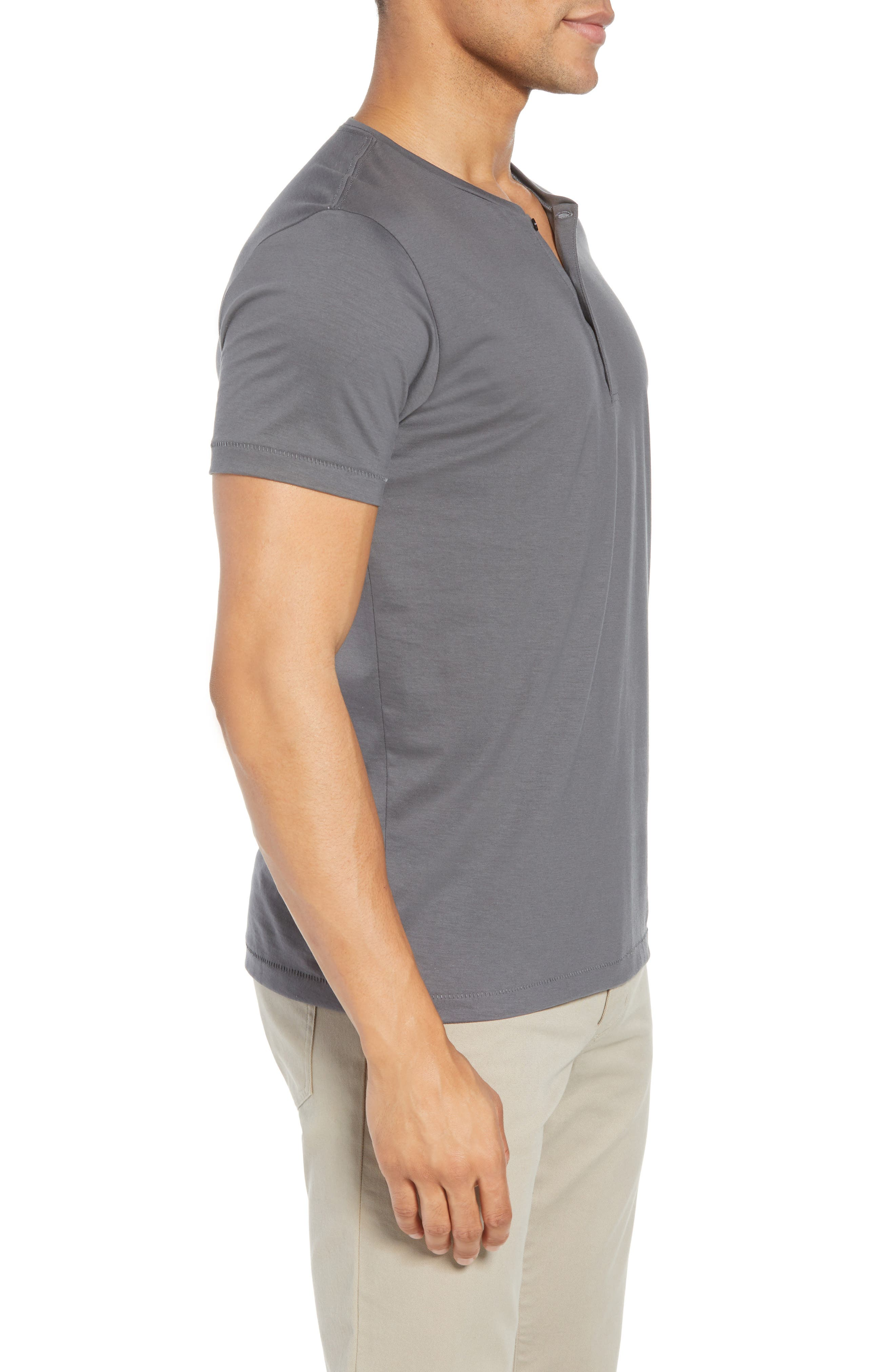 Superfine Henley T-Shirt,                             Alternate thumbnail 3, color,                             020