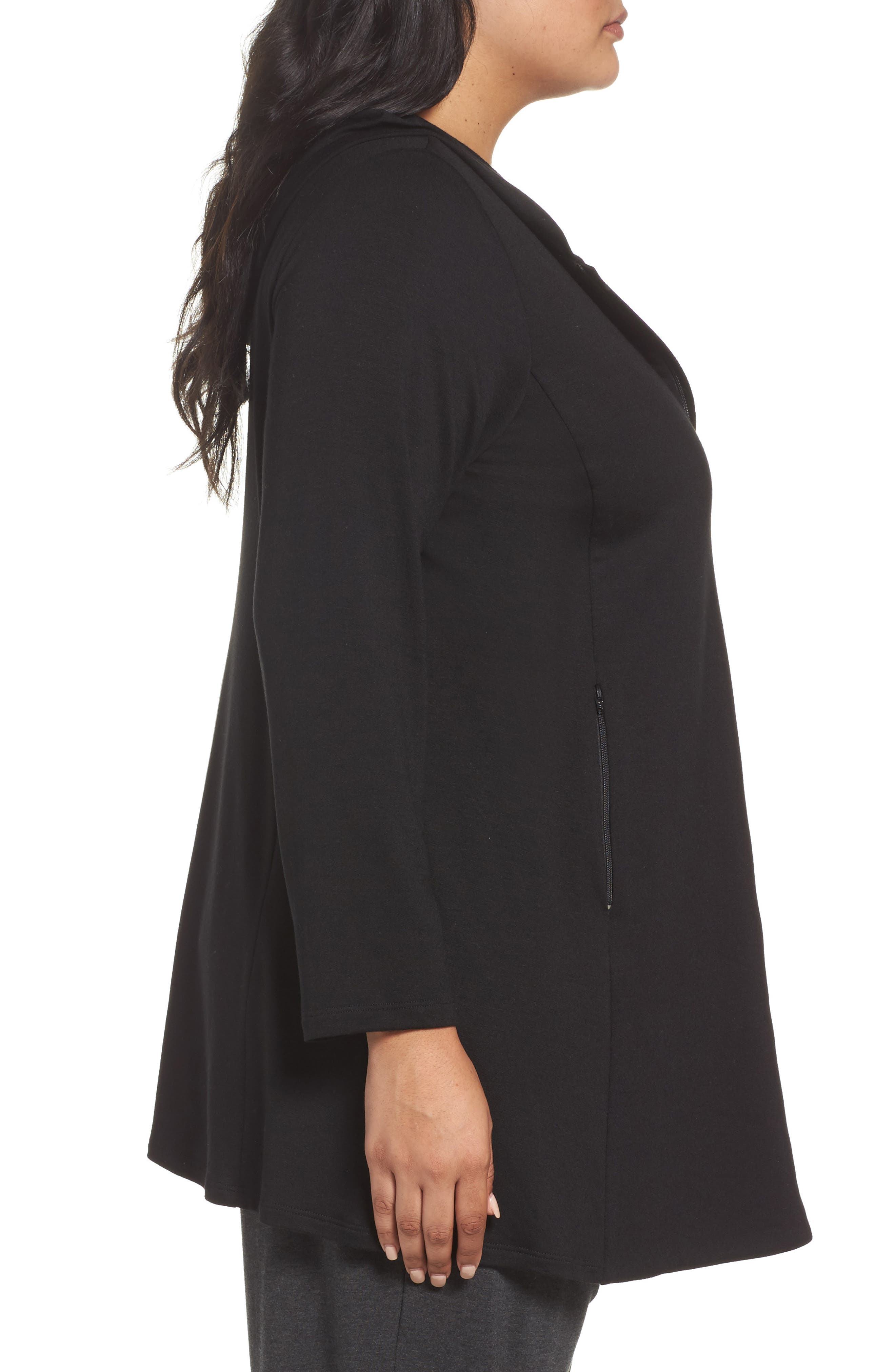 Stretch Hooded Jacket,                             Alternate thumbnail 3, color,                             001