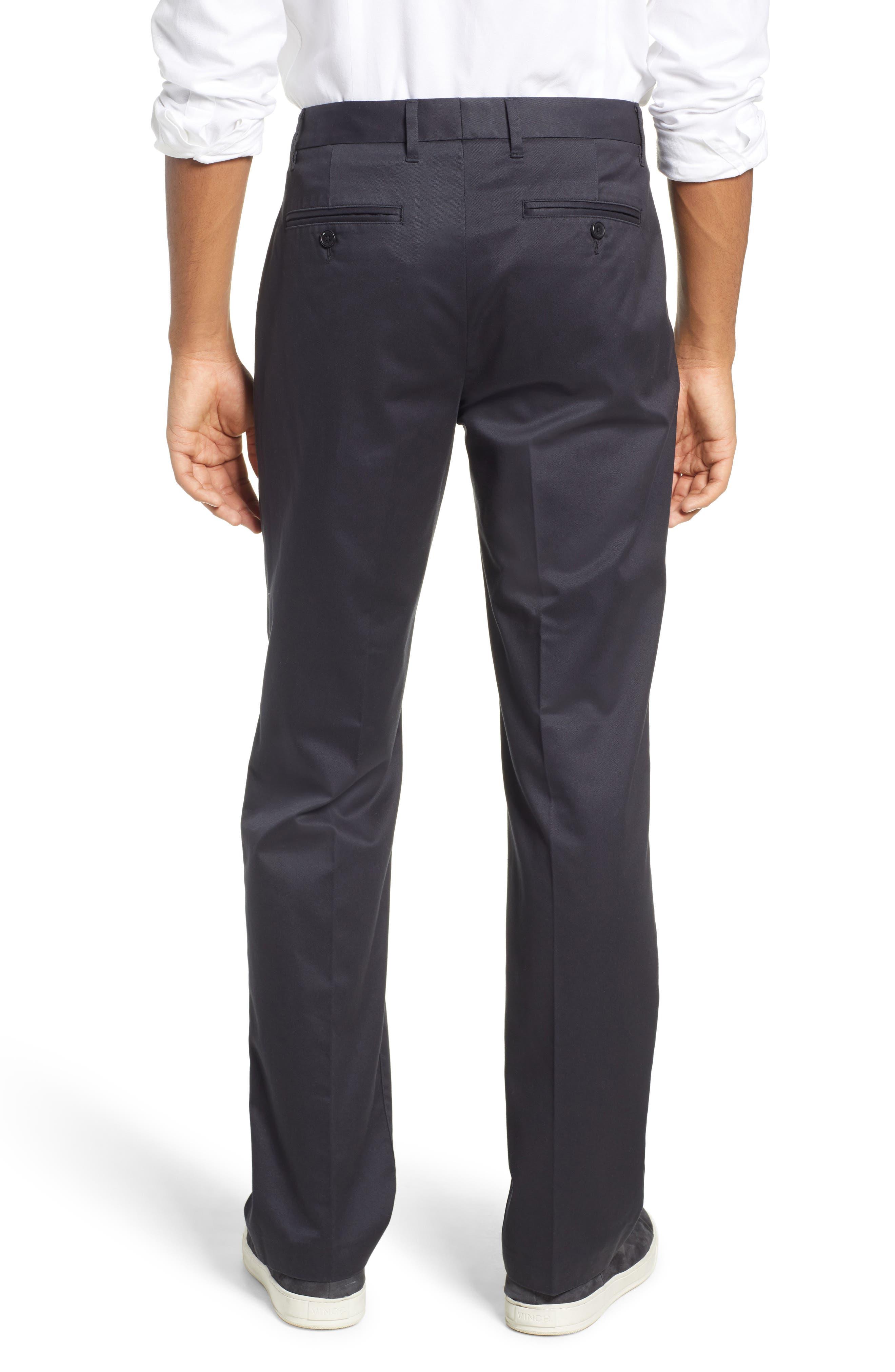 Weekday Warrior Straight Leg Stretch Dress Pants,                             Alternate thumbnail 2, color,                             BLACKS